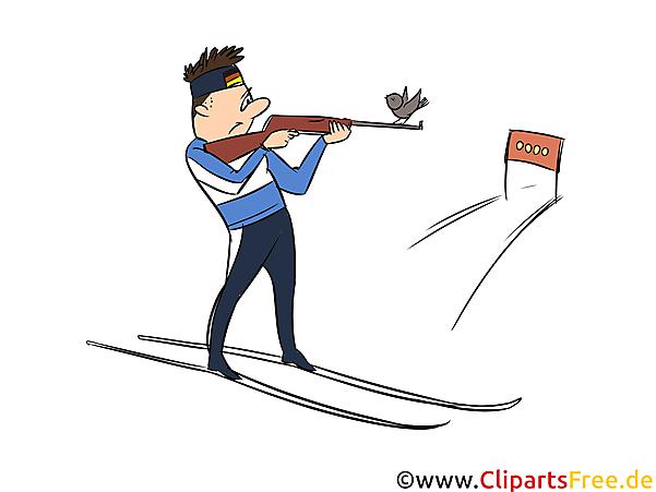 Biathlon Clipart, Bild, Illustration - Wintersportarten Bilder
