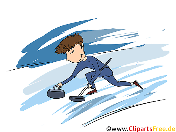 Curling Clipart, Bild, Illustration - Wintersportarten Bilder