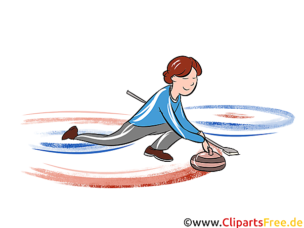 Curling Illustration - Wintersport Cliparts, Bilder
