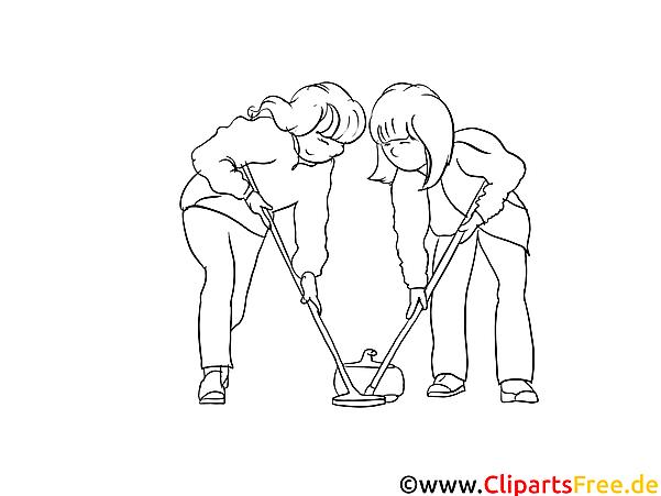 Curling Sport Ausmalbilder