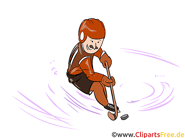 Eishockeyspieler Illustration - Wintersport Cliparts, Bilder