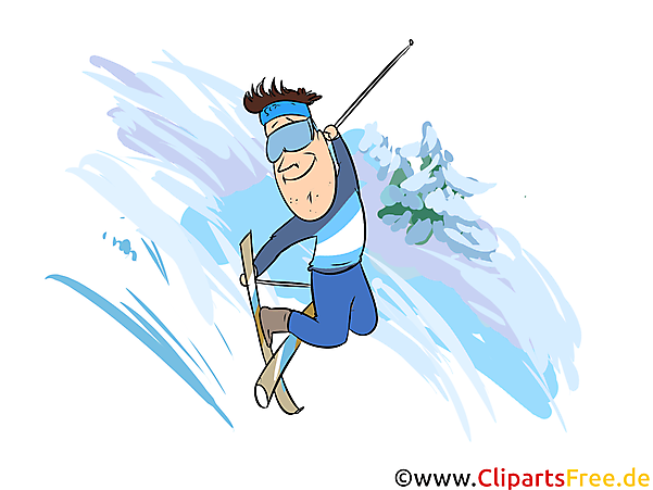 Freeskiing Illustration - Wintersport Cliparts, Bilder
