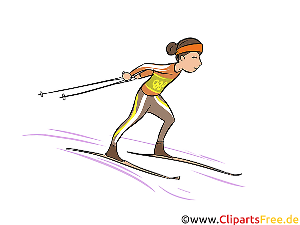 Nordische Kombination Illustration - Wintersport Cliparts, Bilder