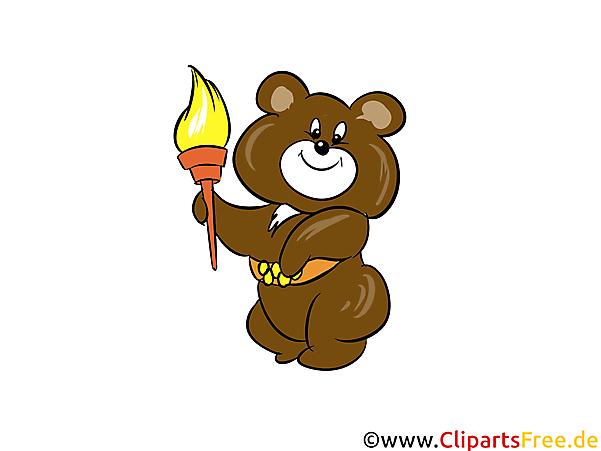 Olympische Maskottchen Mischka Illustration - Wintersport Cliparts, Bilder