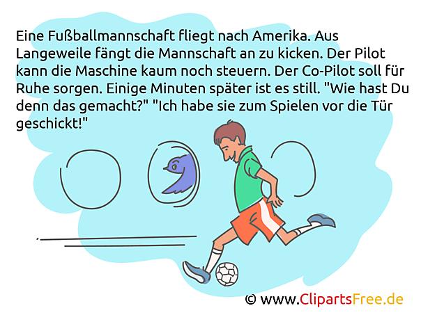 Fussballspieler im Flugzeug Witz - Die besten Witze über Fußball
