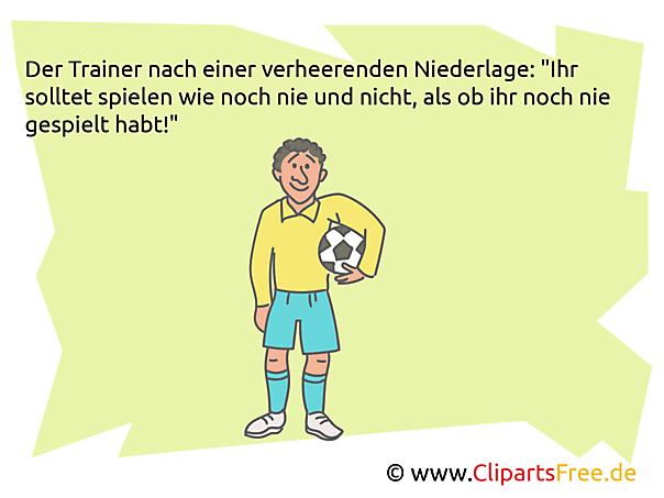 Fußballwitz als Bild zum Sharen im Web
