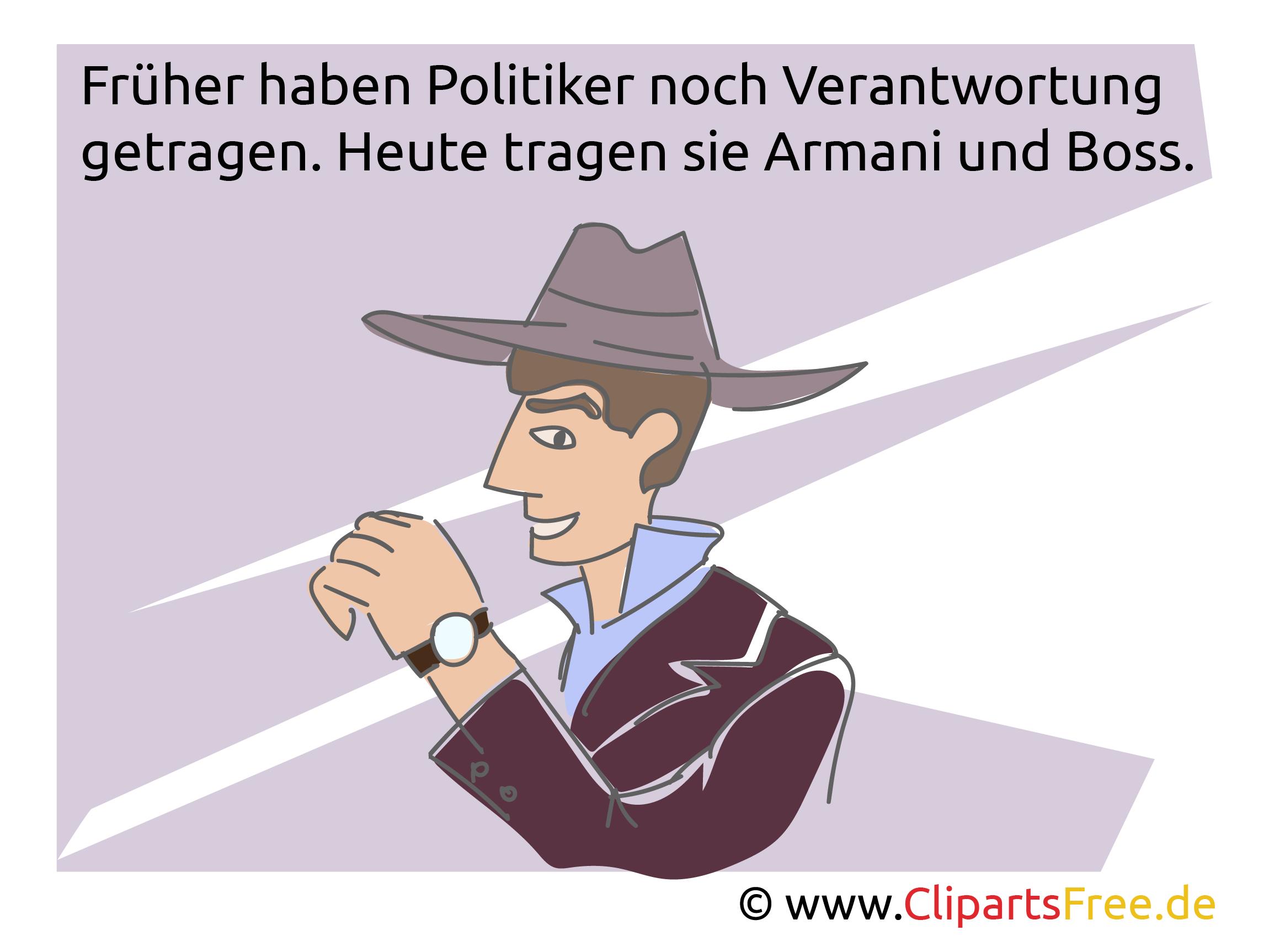 Politikwitze als Bilder mit Illustrationen
