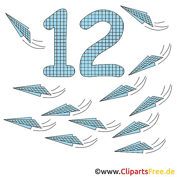 12 - Übungsblätter für Vorschule zum Drucken