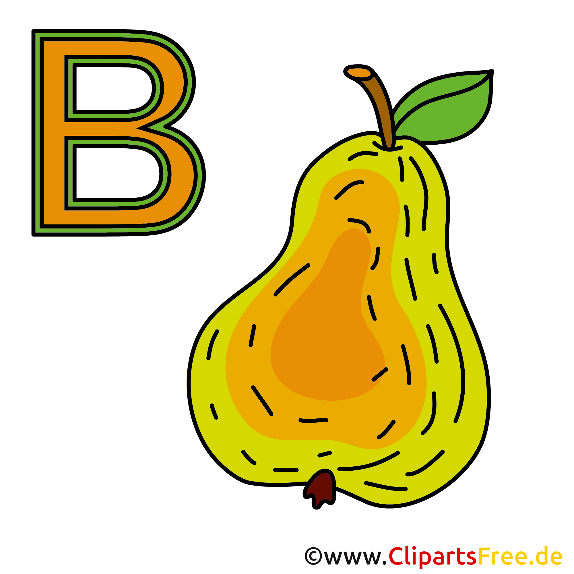 Abc für Kinder - Birne Bild