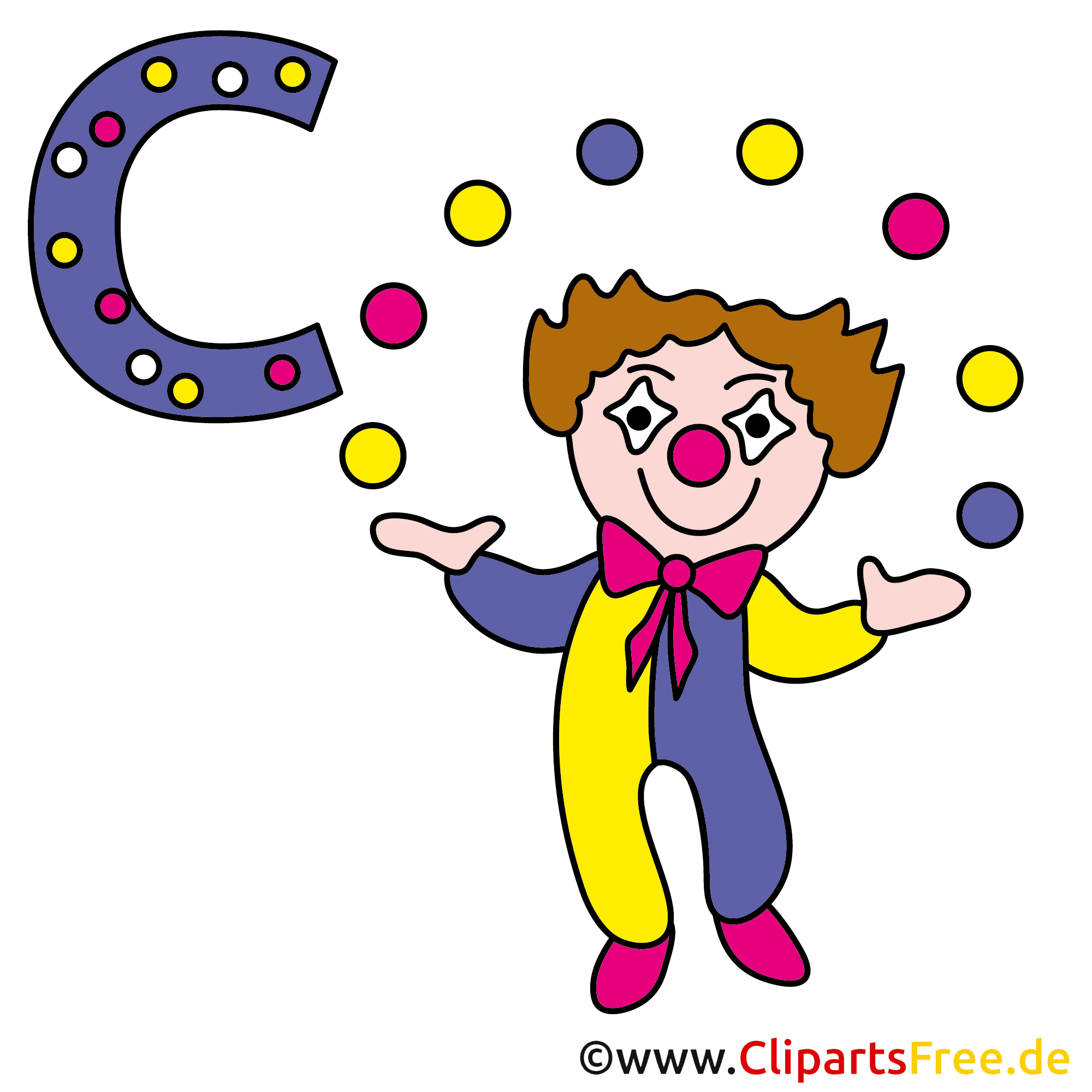 Abc lernen - Clown Bild