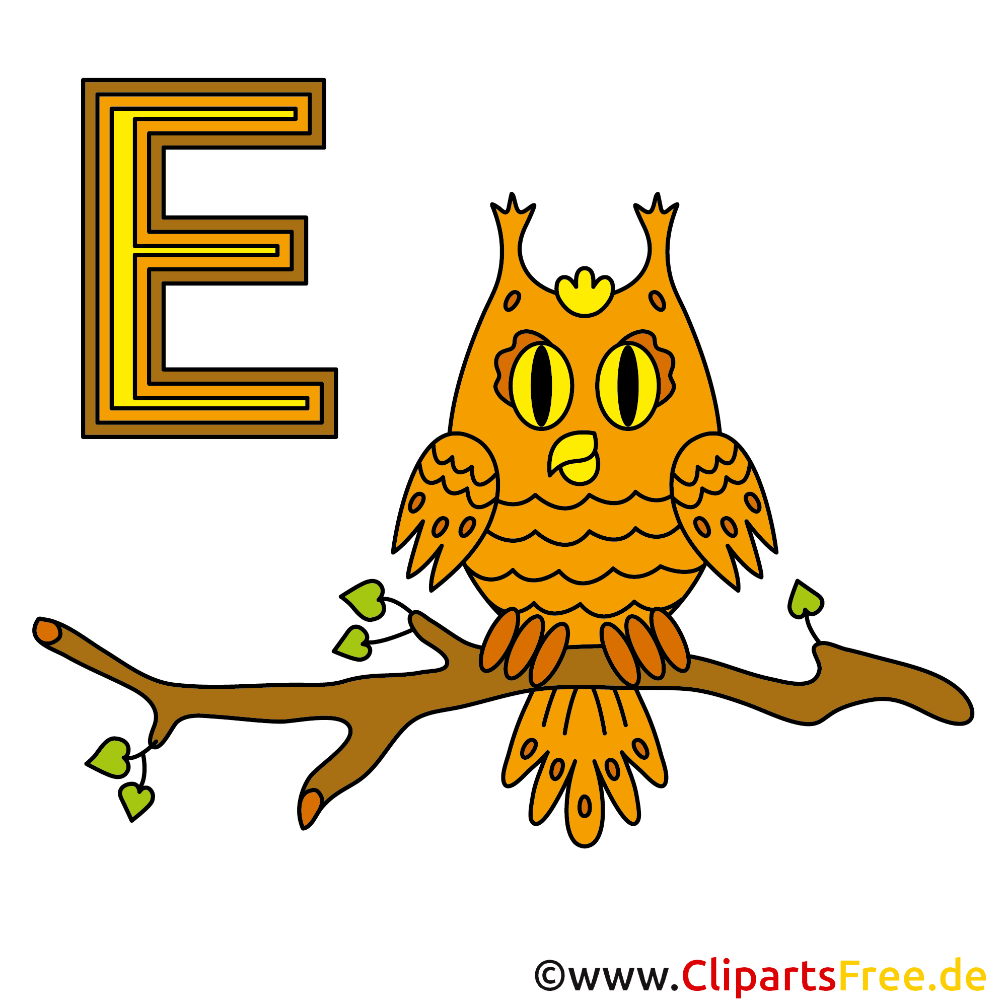 Alphabet Deutsch - Eule Bild