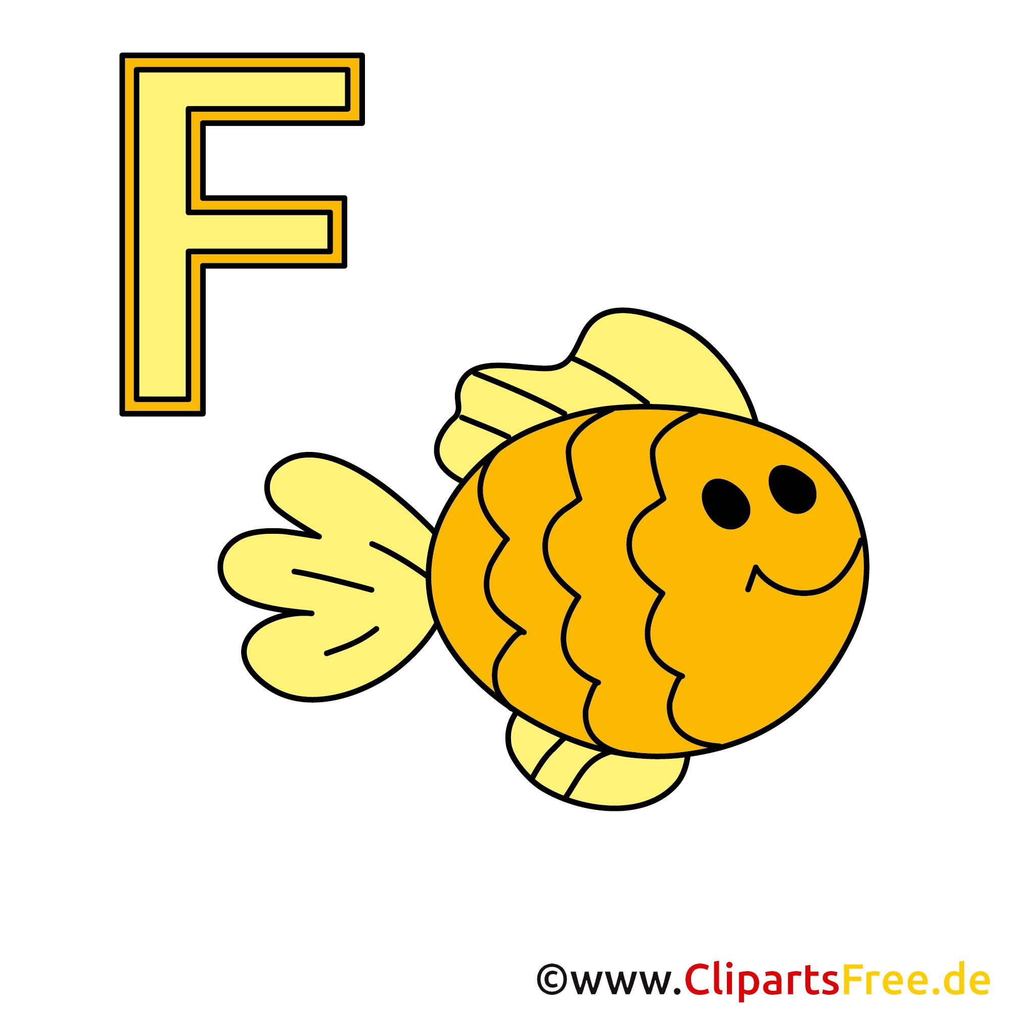 Alphabet lernen mit unseren Bildern - Fisch Bild
