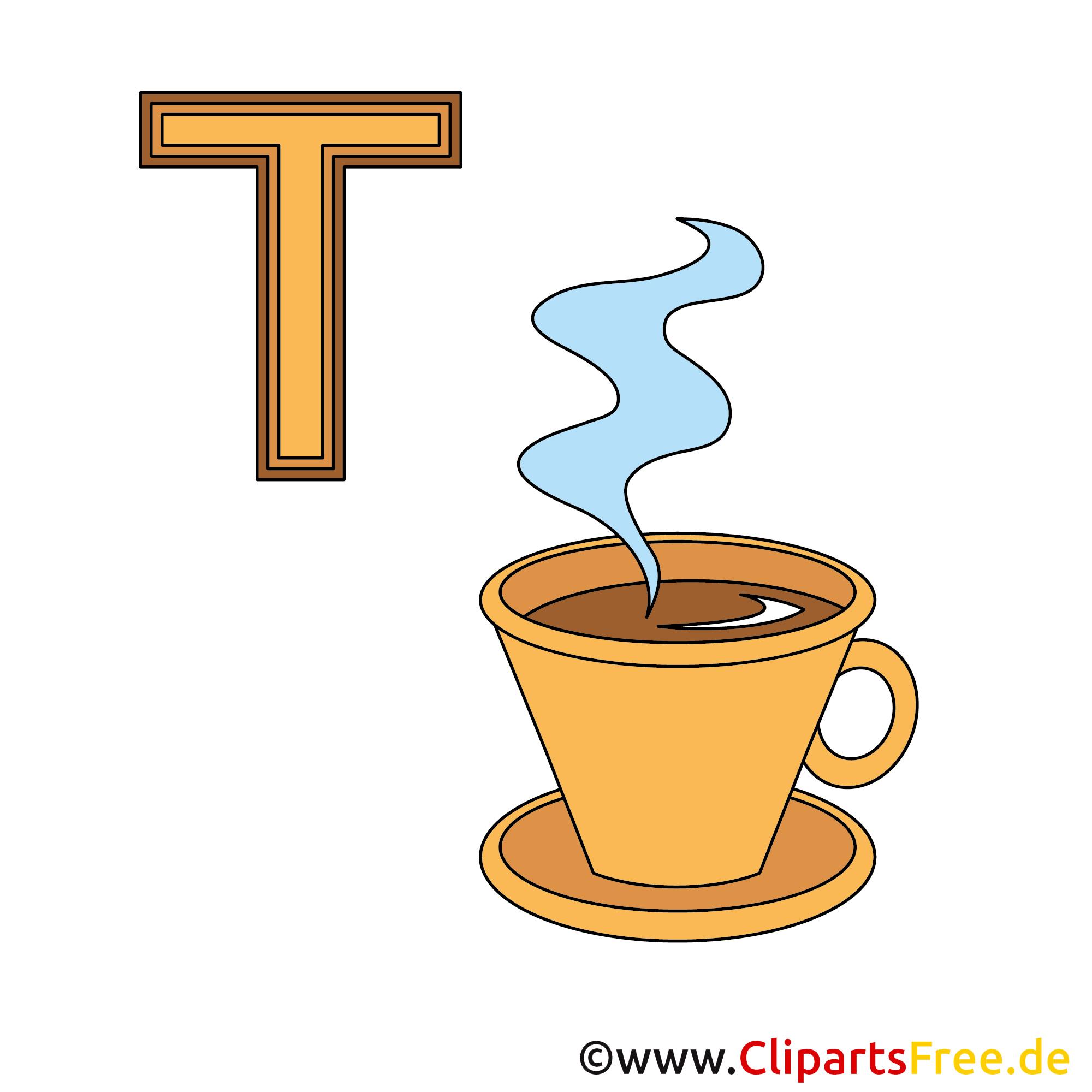 Deutsches Alphabet - Tasse Bild