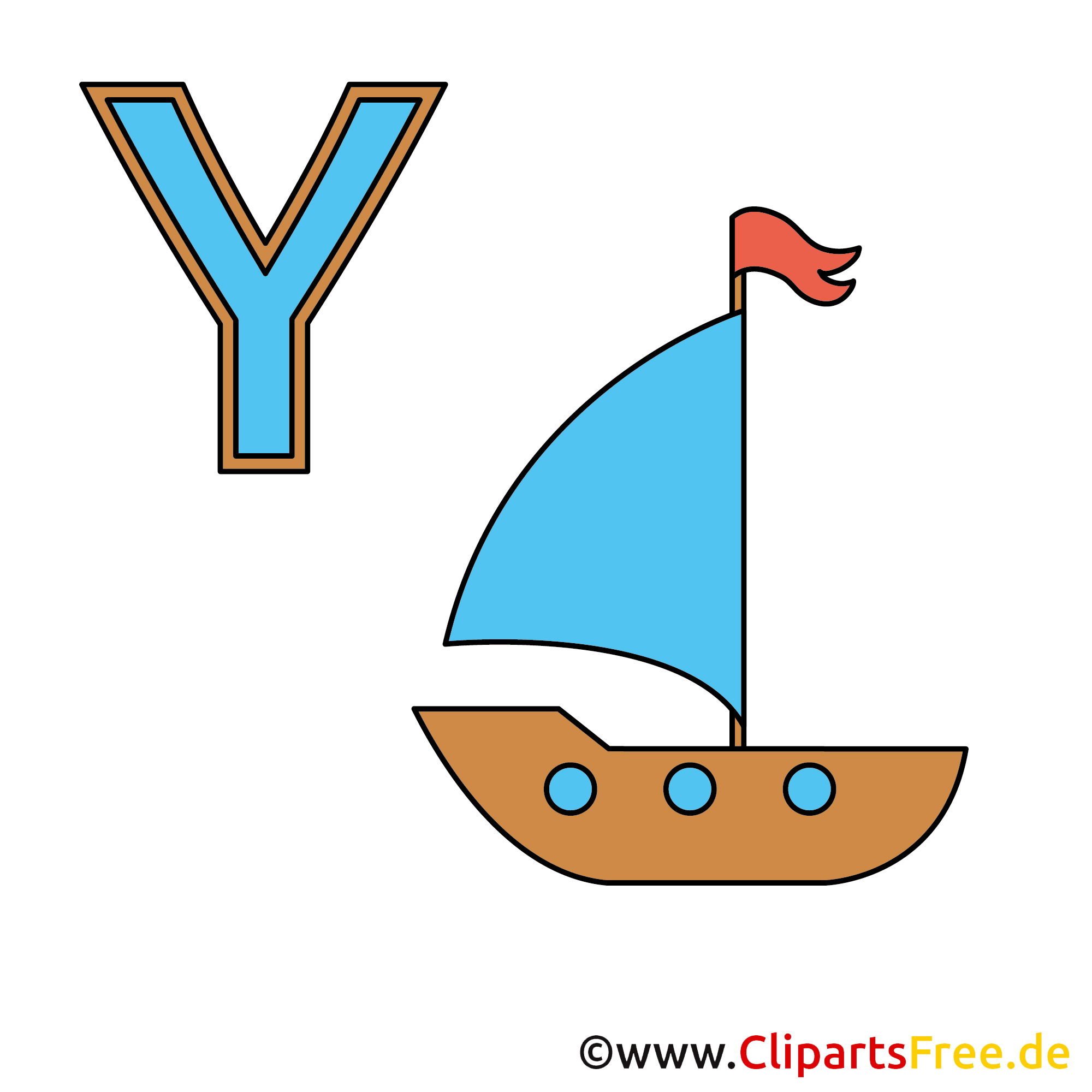 Wörterbuch Deutsch - Yacht Bild