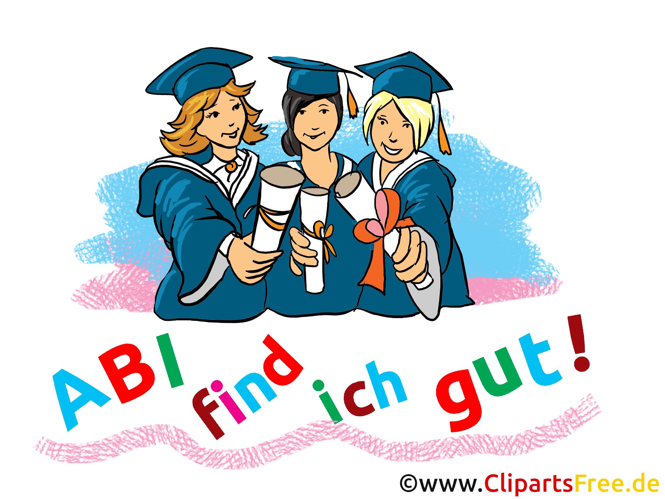 Schulabschluss Clipart, Bild, Illustration, Grafik