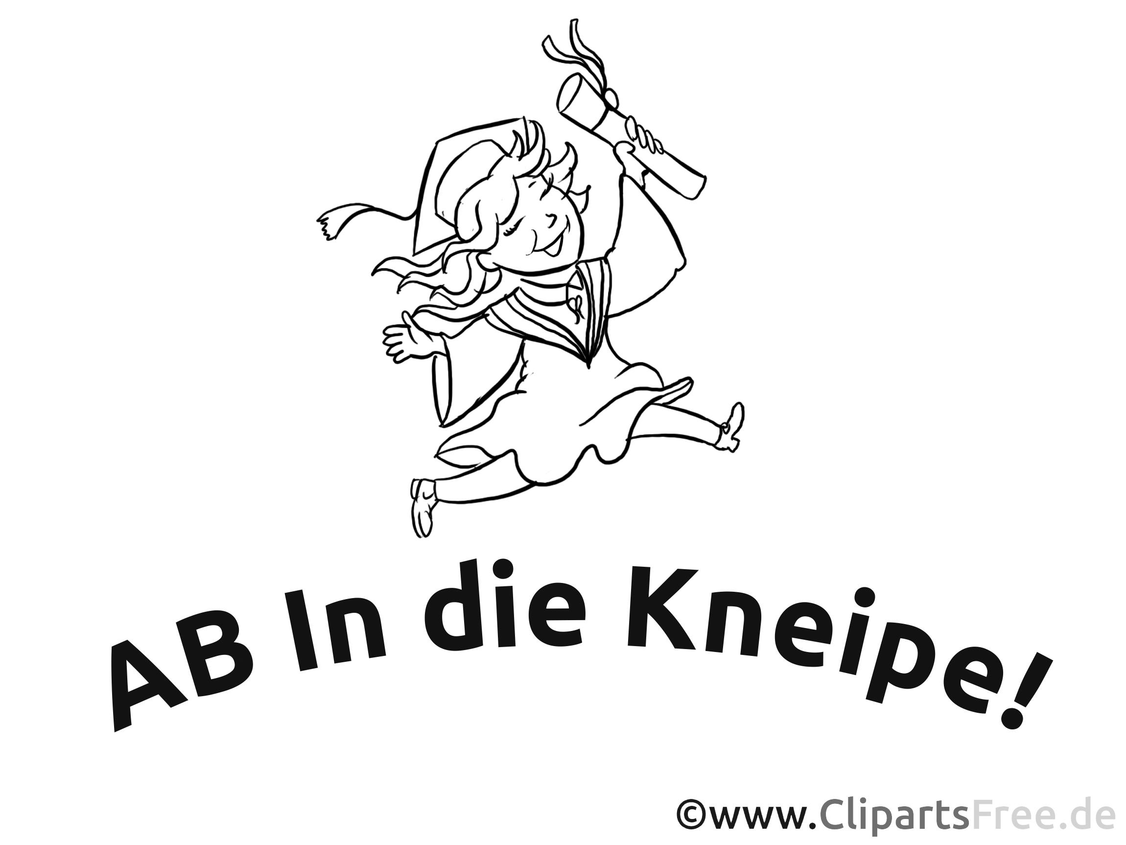 Vorlage für ABI Plakat - Ab in die Kneipe!