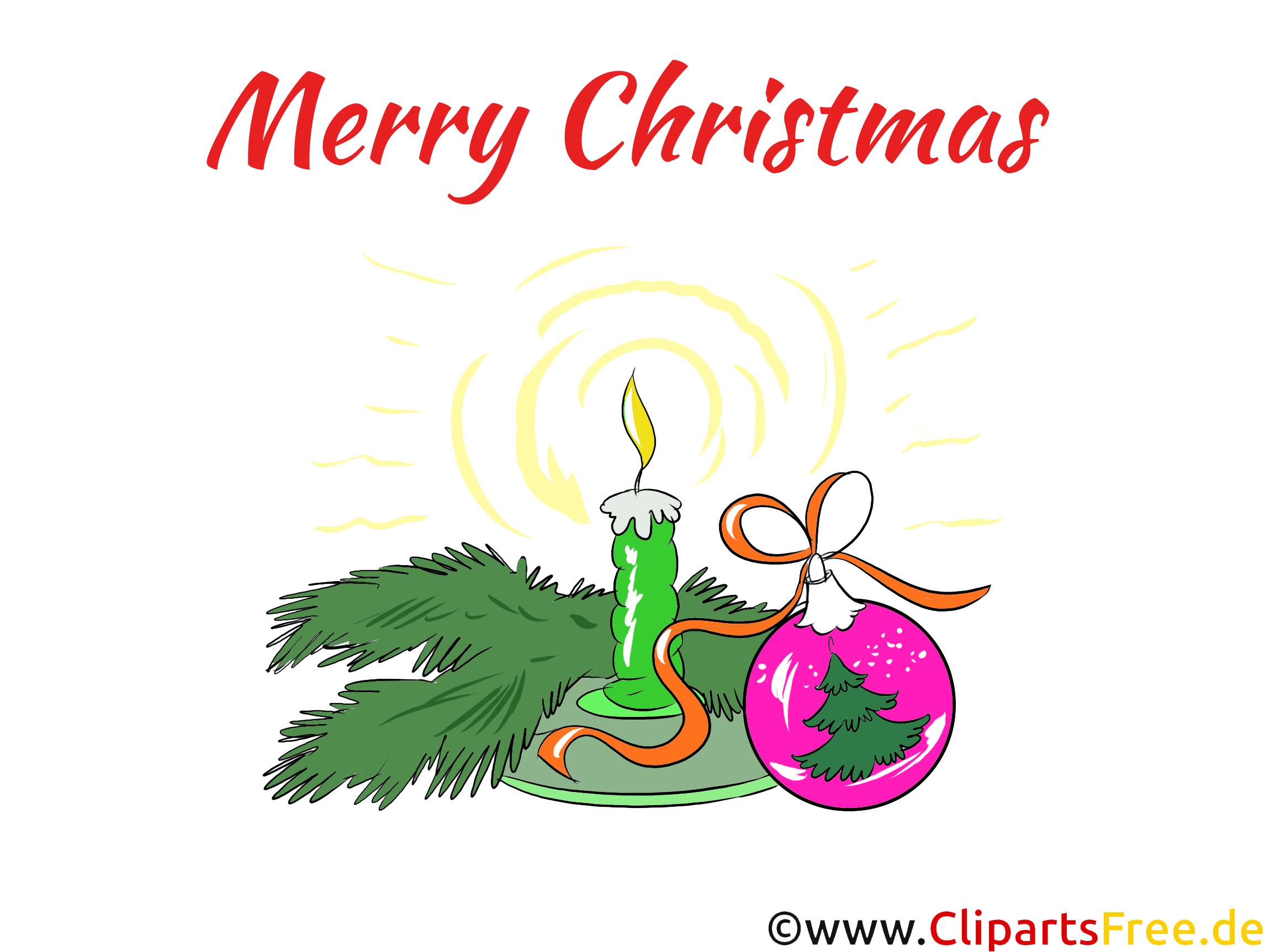 1. Advent Kerze mit Tannenzweigen Clipart, Illustration