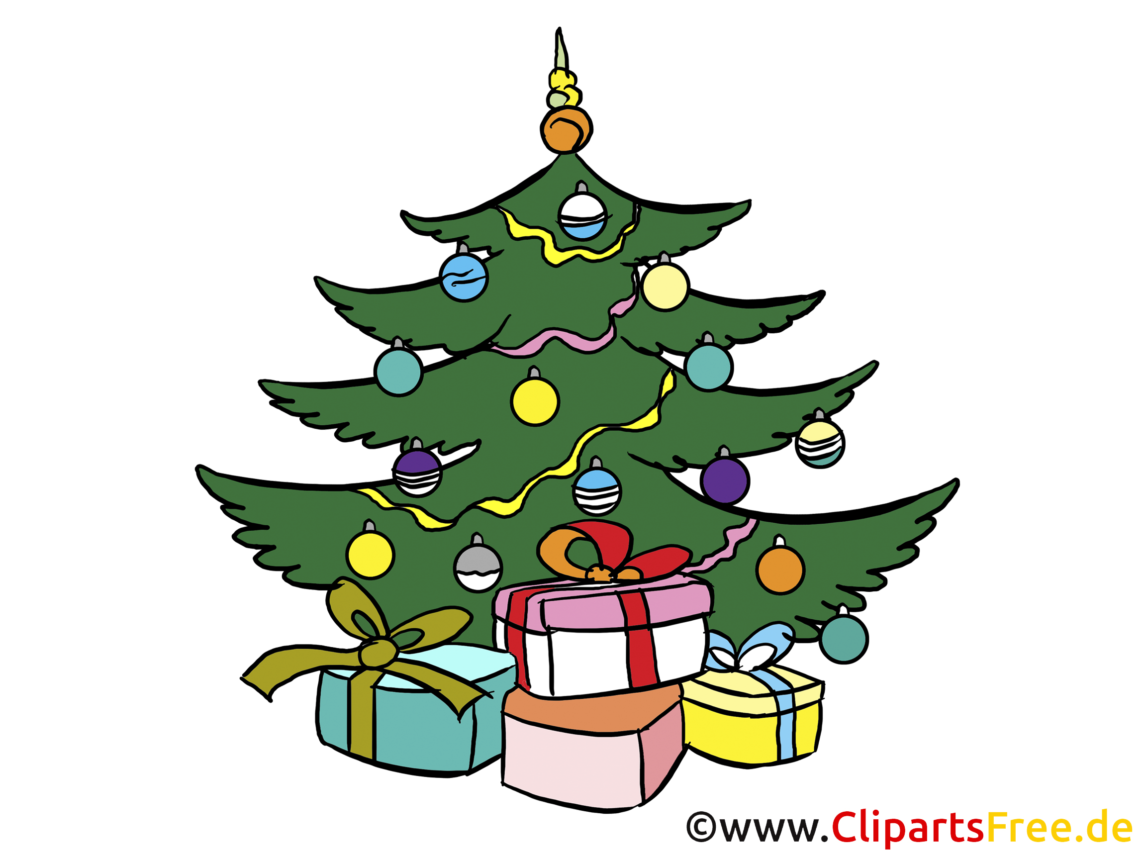 4 Advent Bilder - Weihnachtsbaum am Heiligen ABend