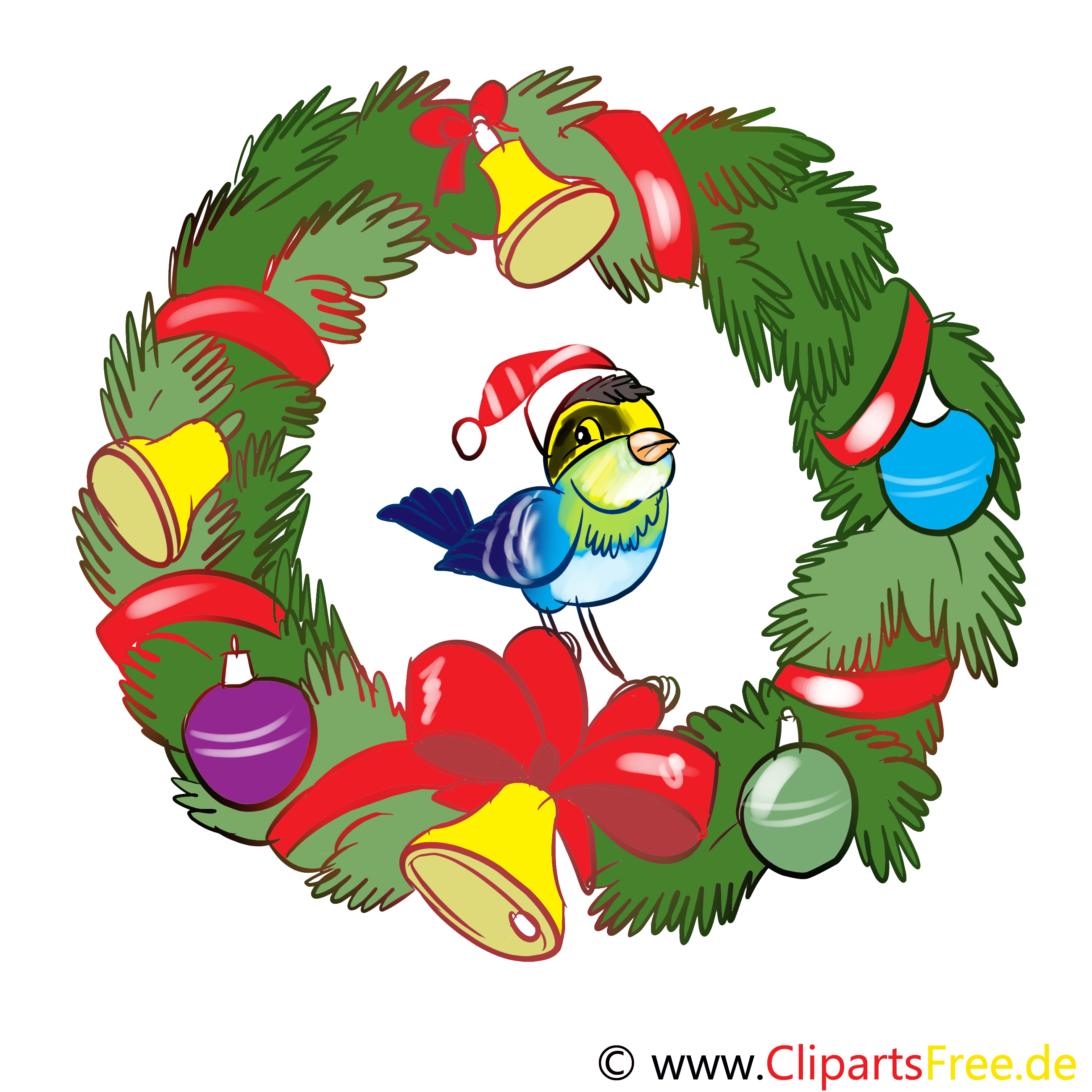 Adventkranz Illustration, Bild, Clipart, Cartoon gratis