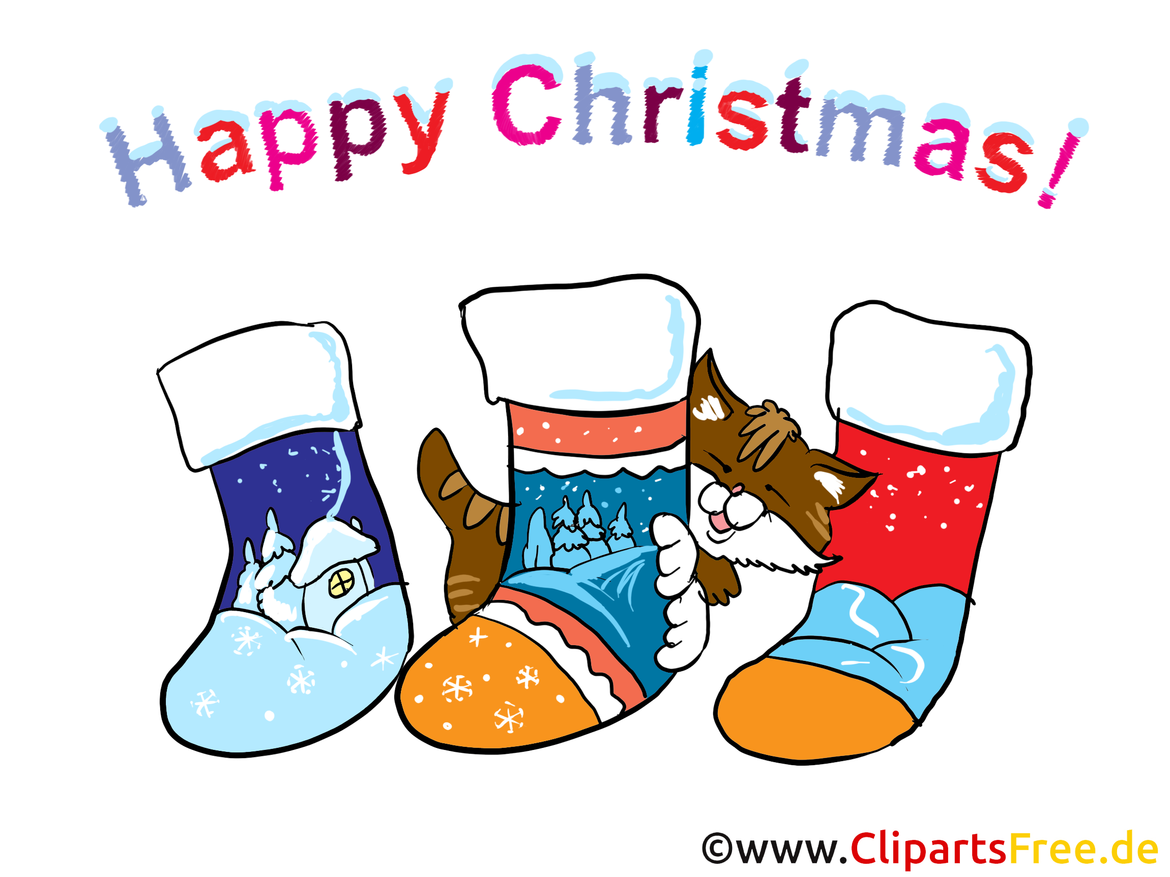 Lustiges Bild zu Weihnachten mit Socken