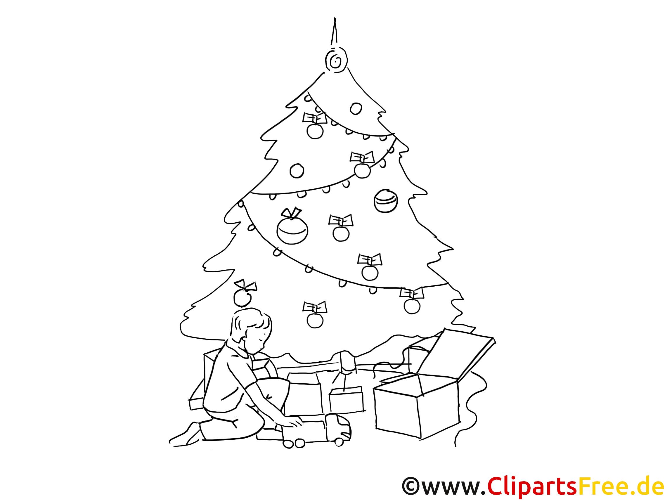 clipart weihnachten schwarz weiss