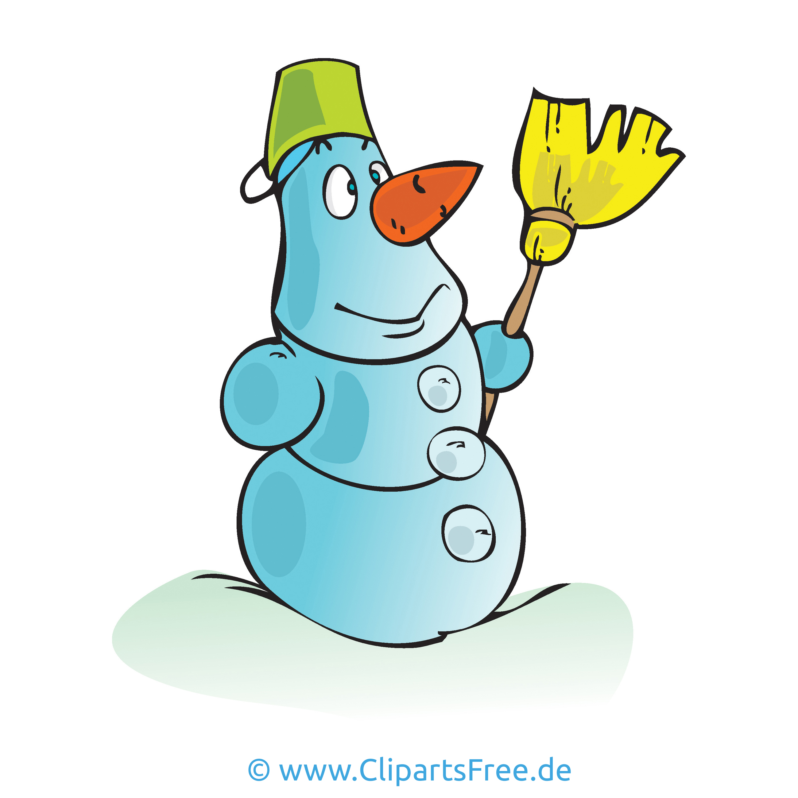 Schneemann Clipart Bild Cartoon Grafik Illustration