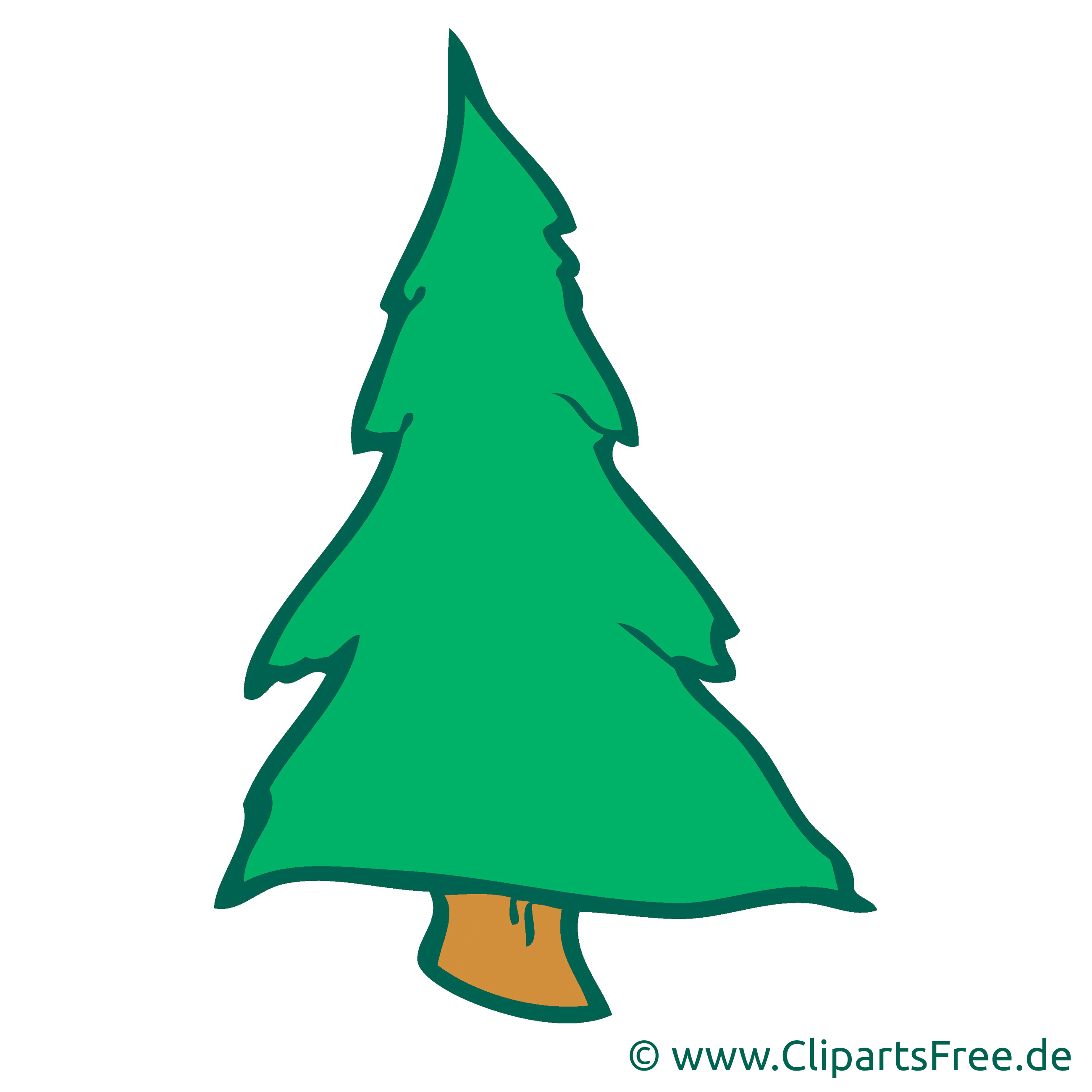 Tannenbaum Bild, Cartoon, Clipart, Grafik, Illustration