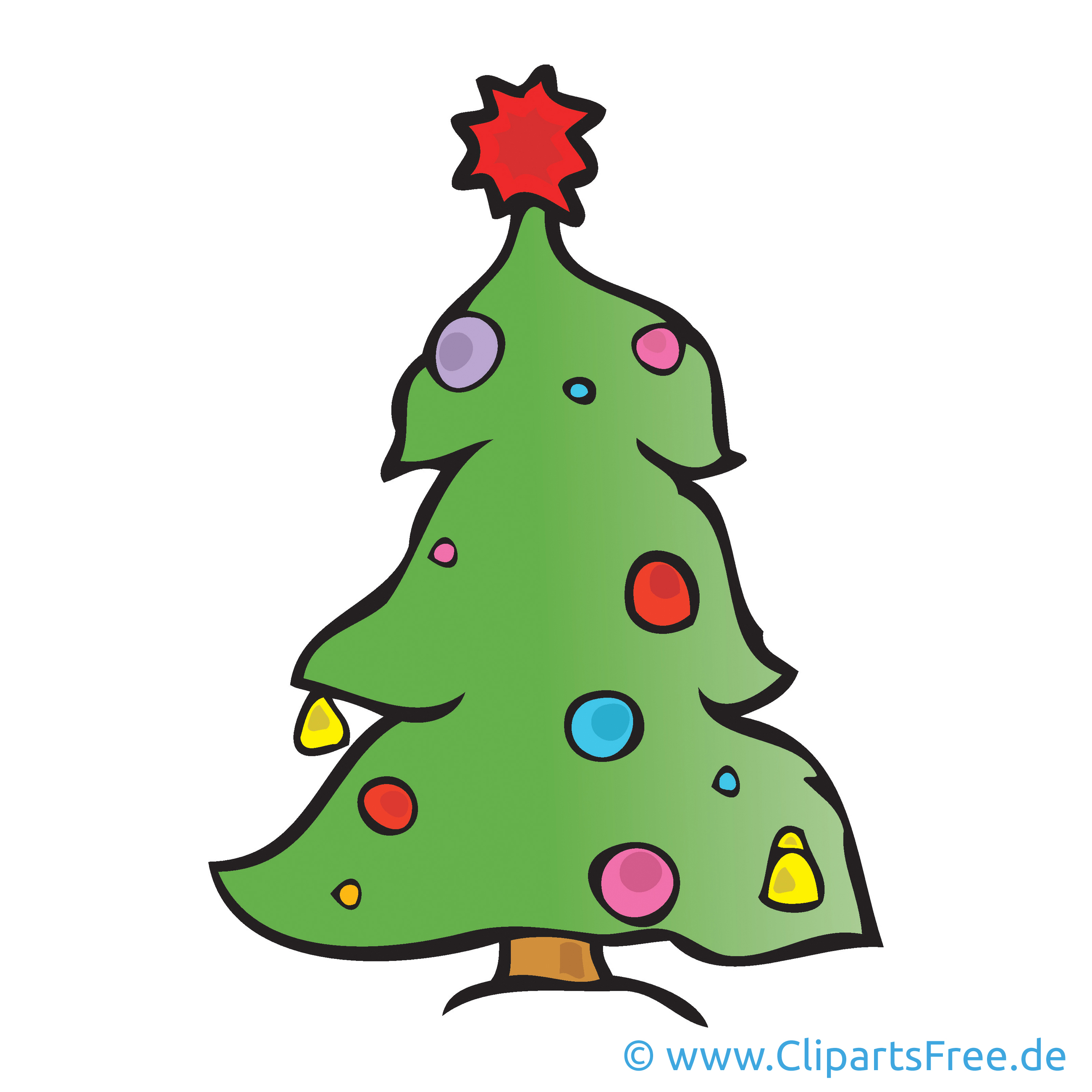 Weihnachtsbaum Bild Cartoon Clipart Grafik Illustration