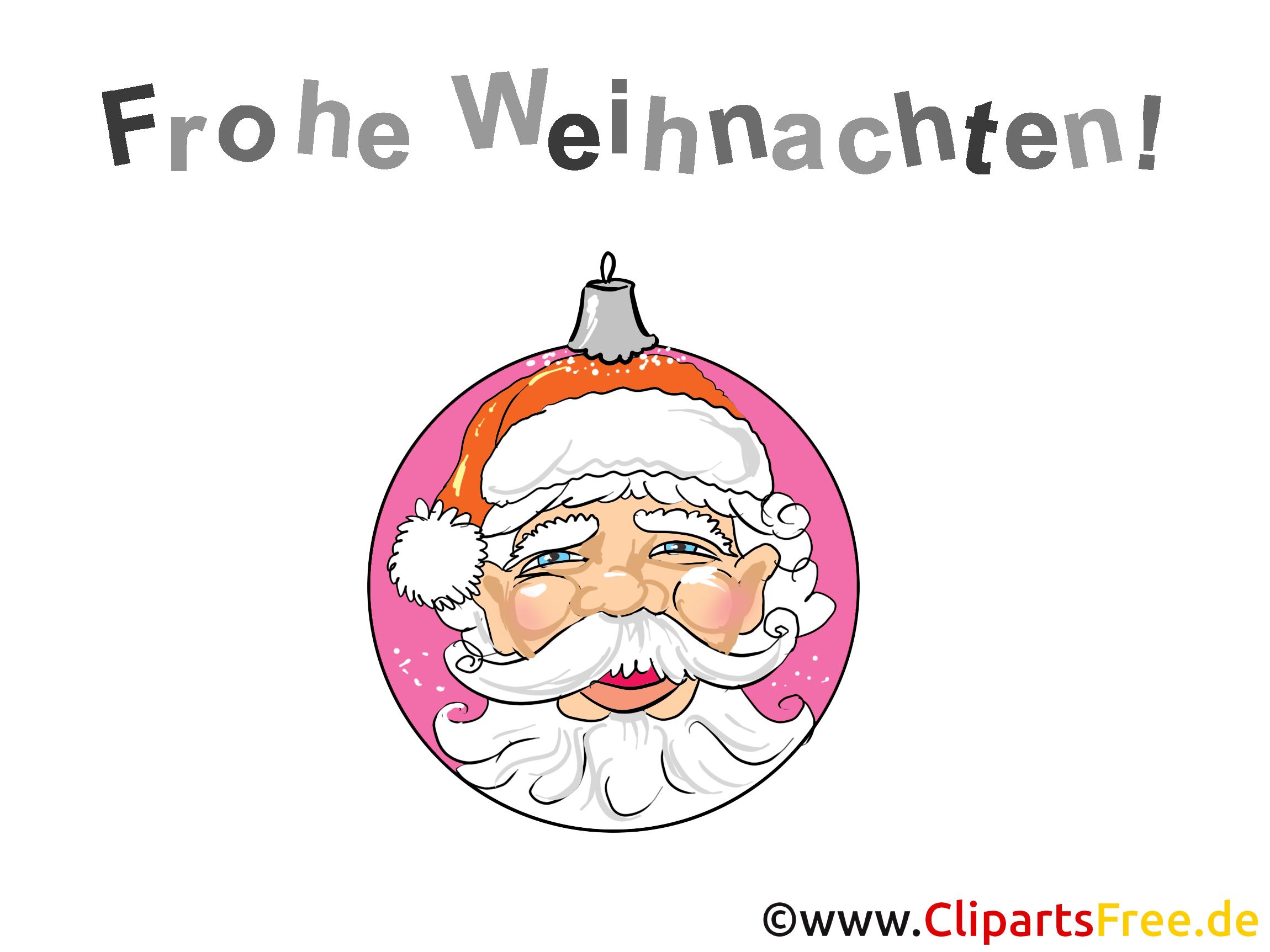 Weihnachtsbild mit Santa - kostenlose Cliparts