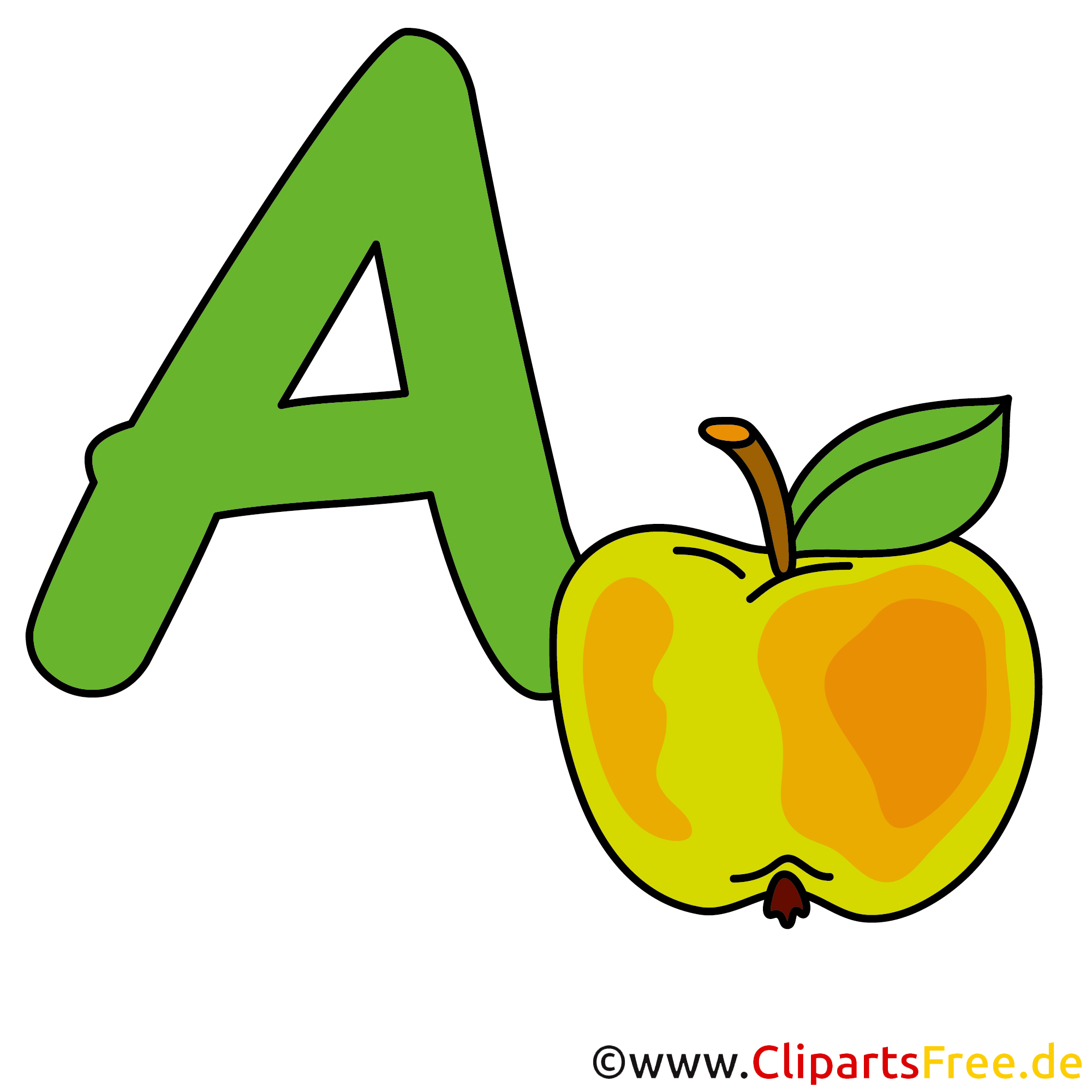 a is for apple clipart buchstaben. Black Bedroom Furniture Sets. Home Design Ideas