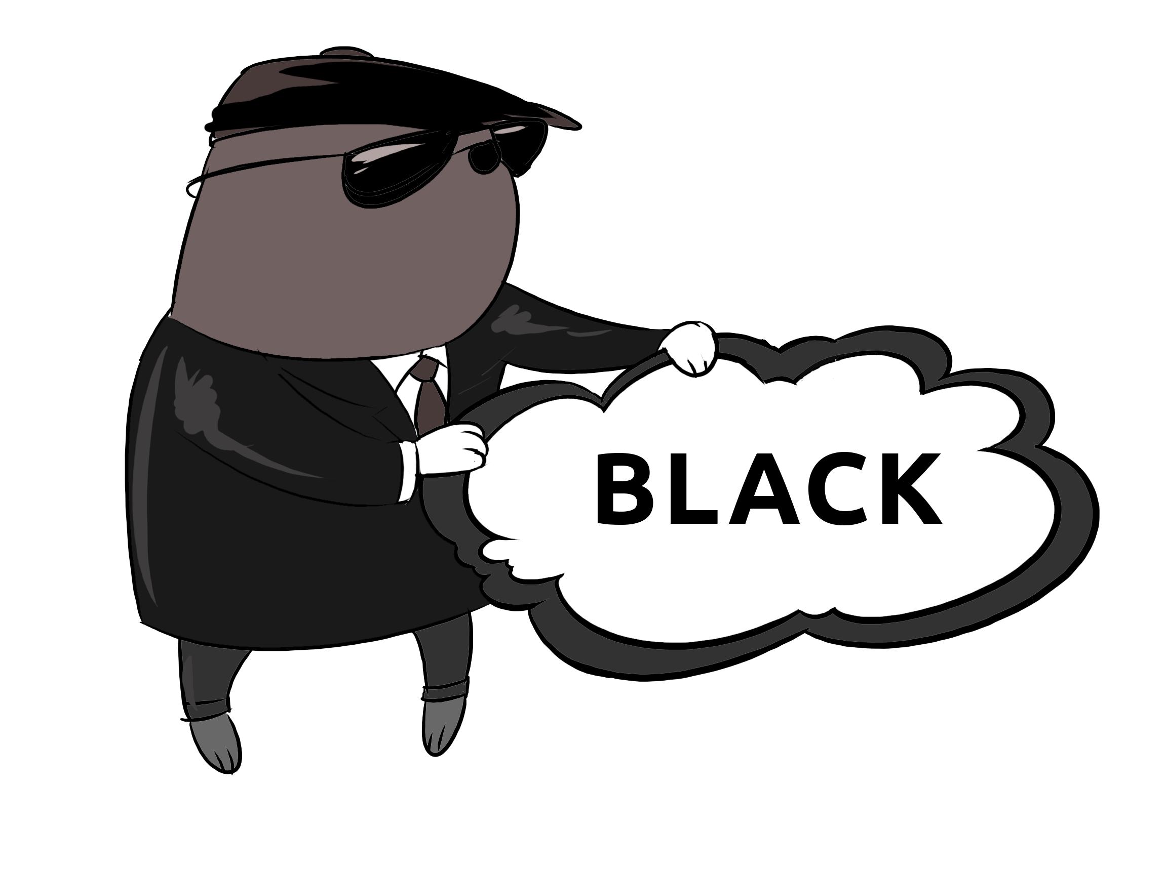 Schwarz - Black Farben lernen Clipart, Bilder für Schule und Kindergarten