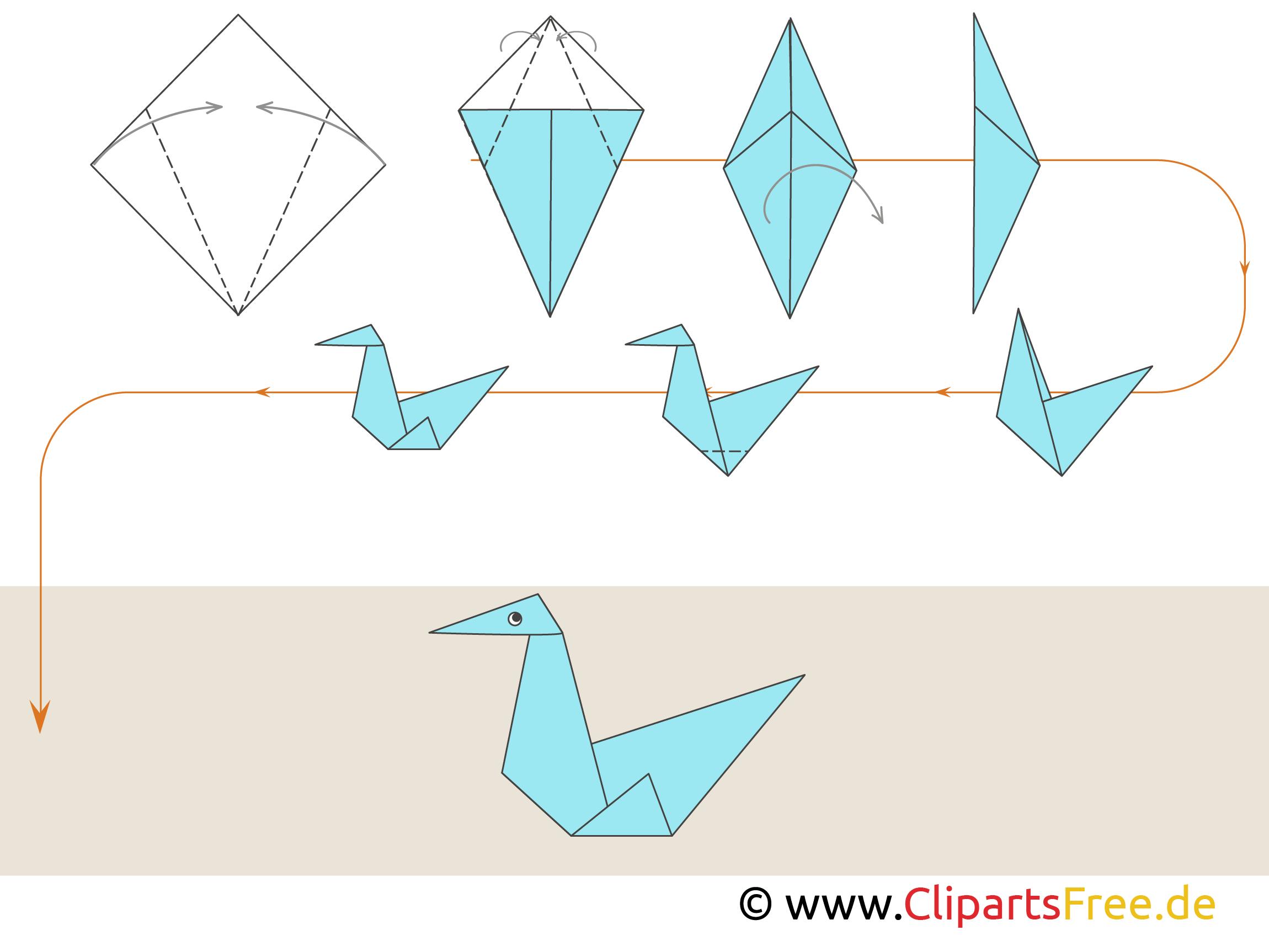 origami anleitungen zum falten vogel. Black Bedroom Furniture Sets. Home Design Ideas
