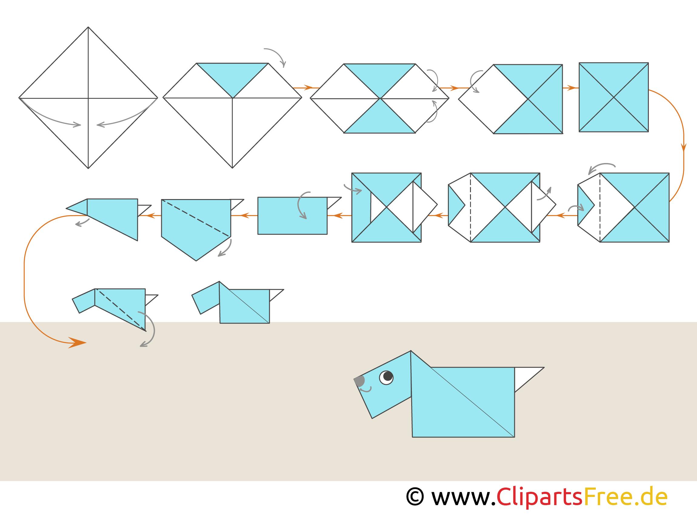 origami hund f r anf nger. Black Bedroom Furniture Sets. Home Design Ideas