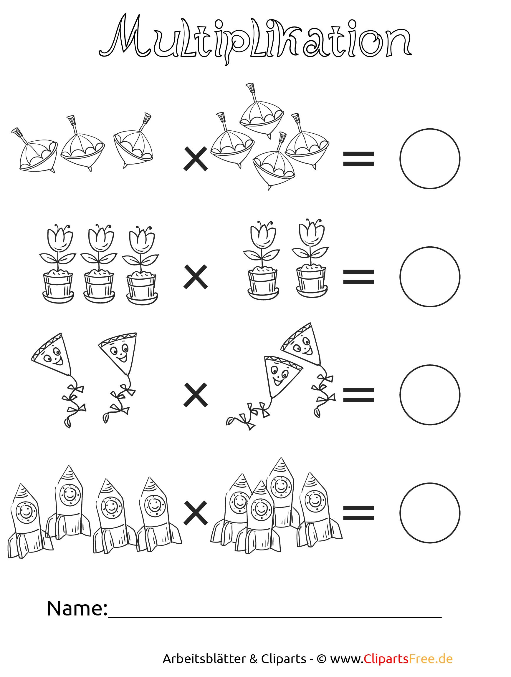 Multiplikation Druckvorlagen in der Grundschule