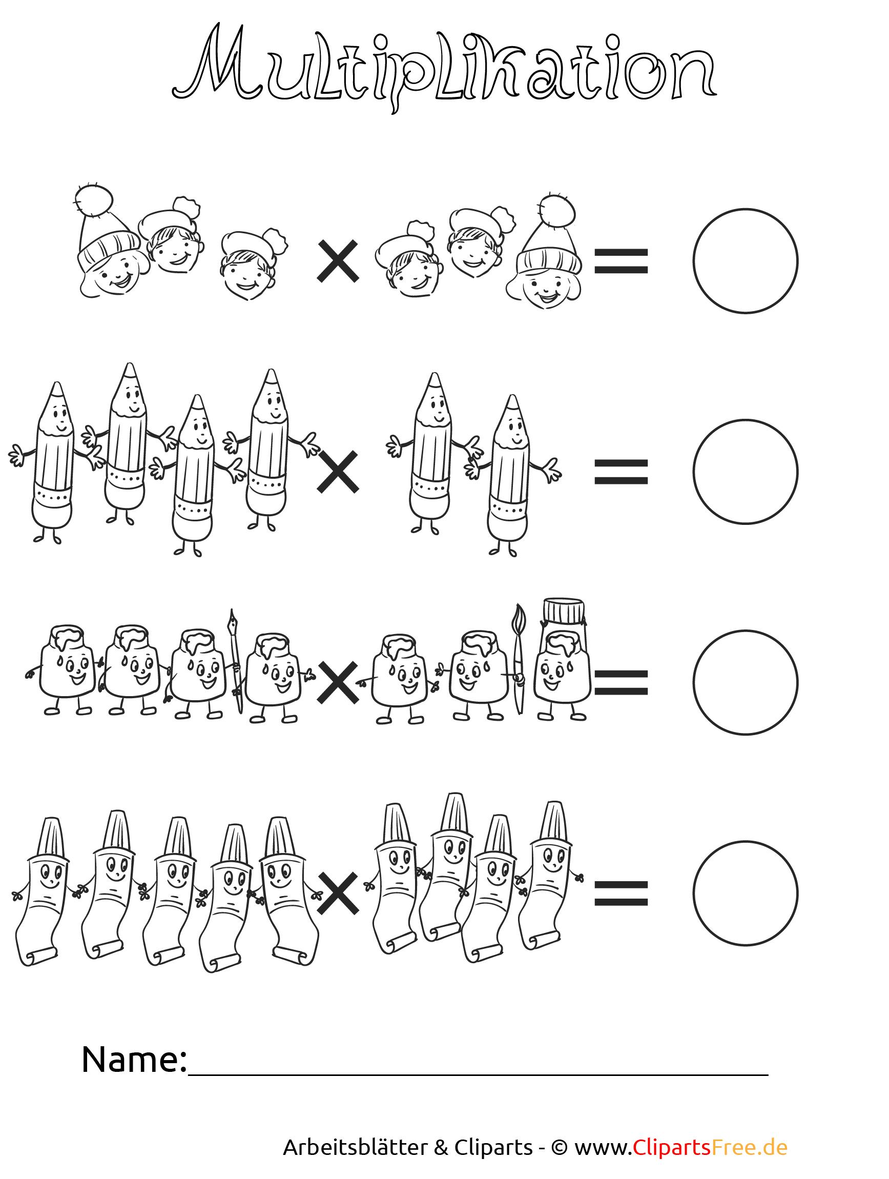 Arbeitsblätter Mathematik Multiplikation : Multiplikation unterrichtmaterial und arbeitsblätter zum