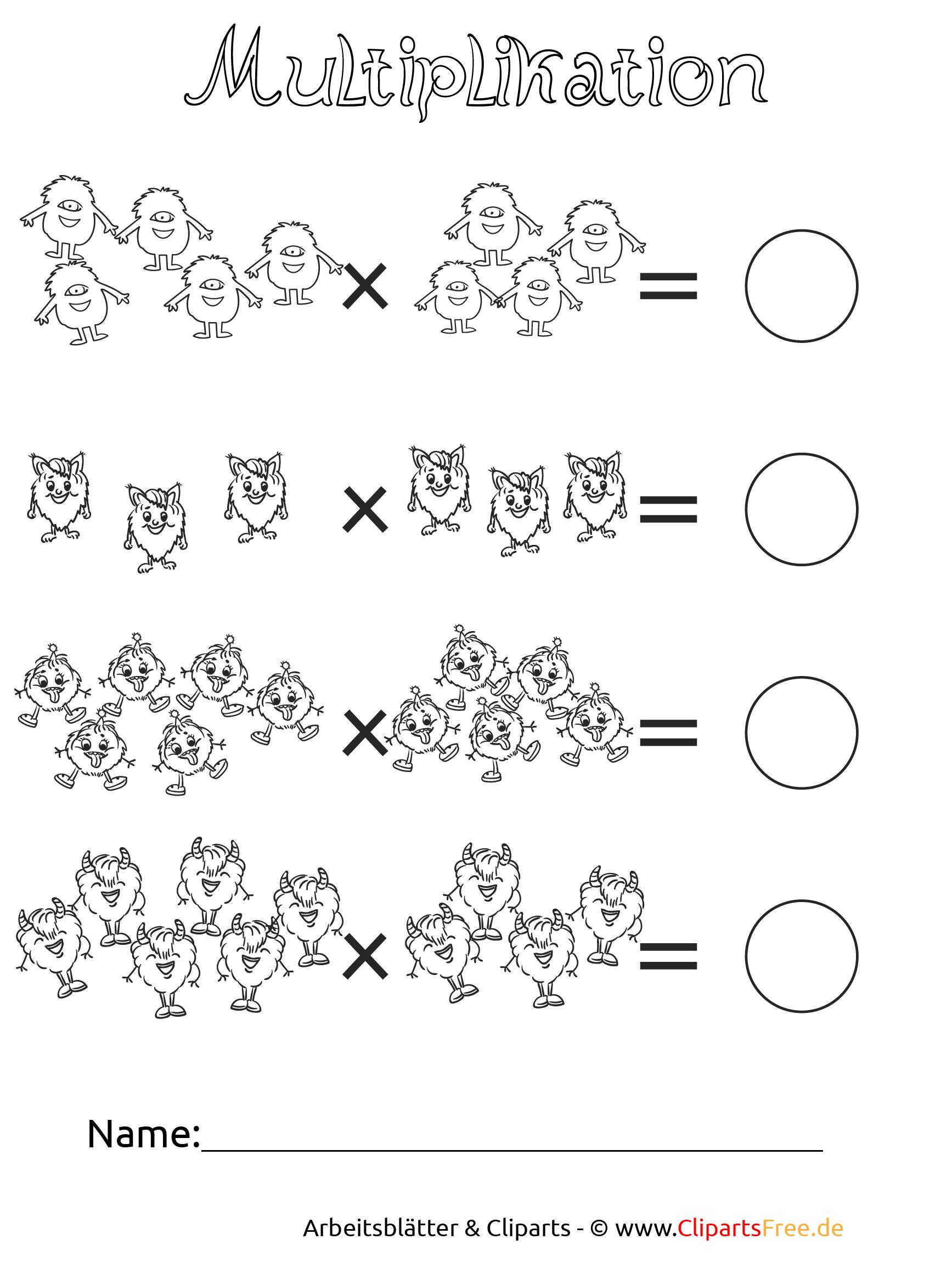 Arbeitsblätter Mathematik Multiplikation : Übungsblätter grundschule schriftliche multiplikation