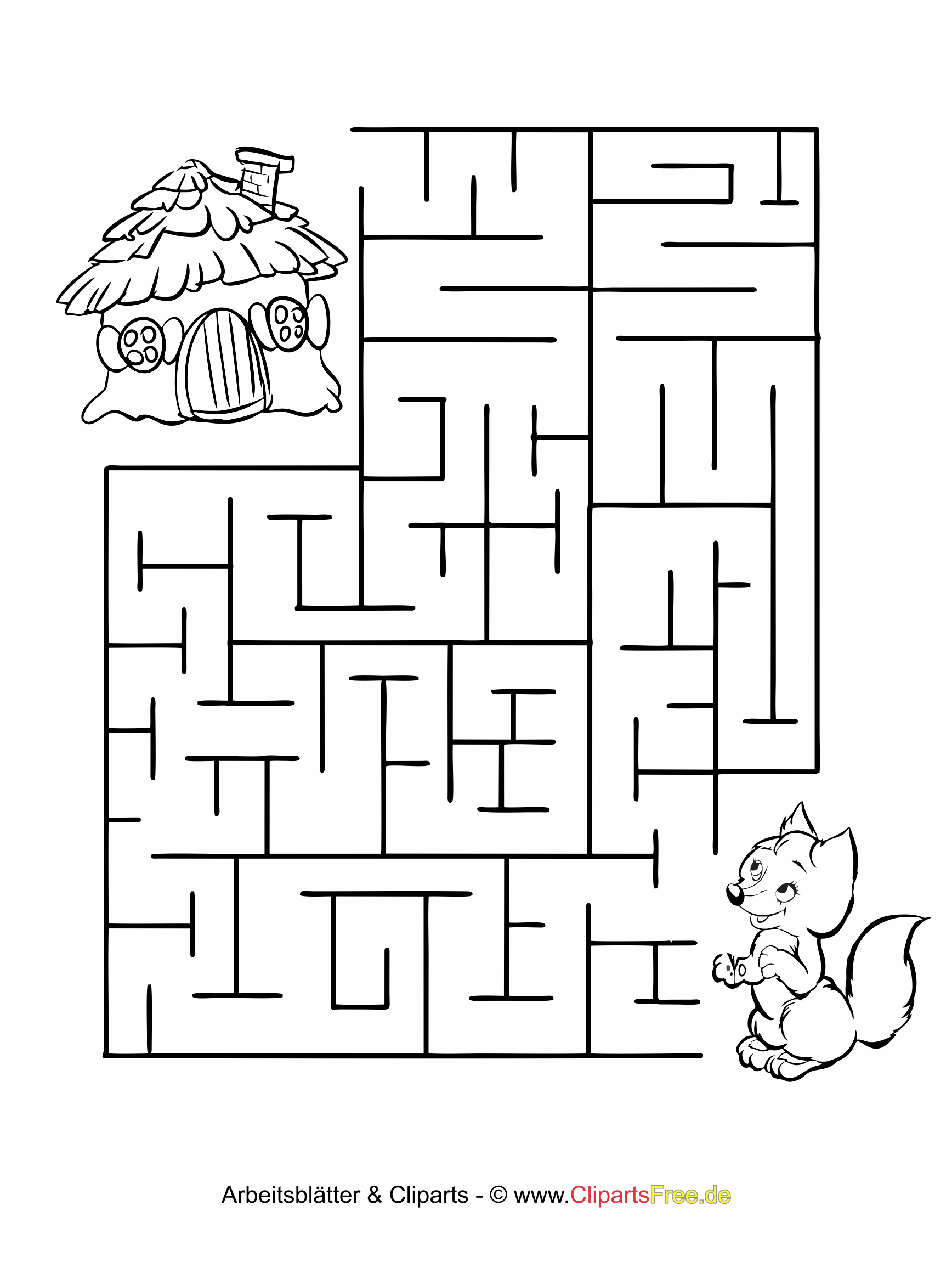 rätsel für kinder  labyrinthe irrgarten malvorlagen