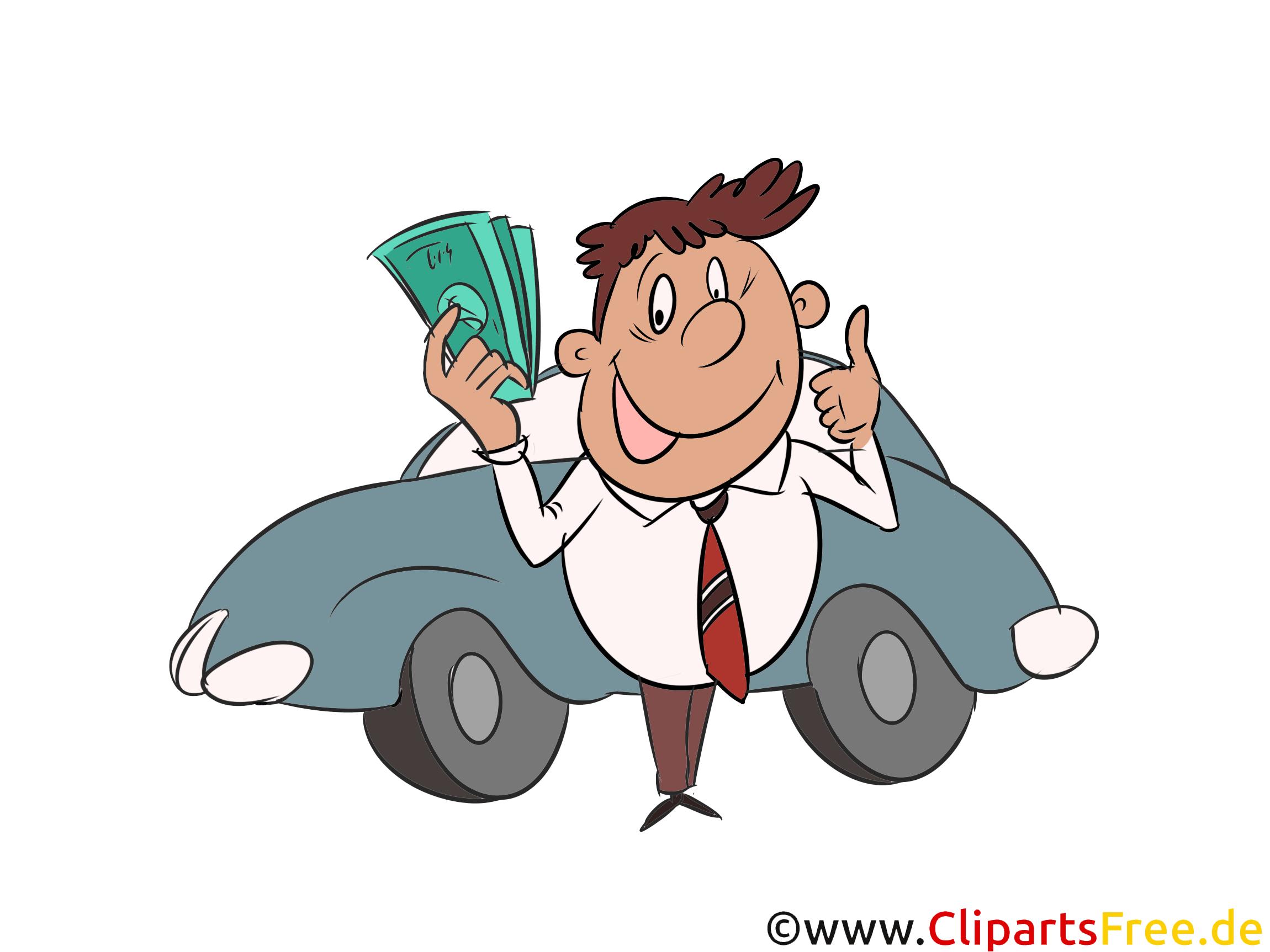 Auto-Finanzierung Clipart, Bild, Grafik, Illustration