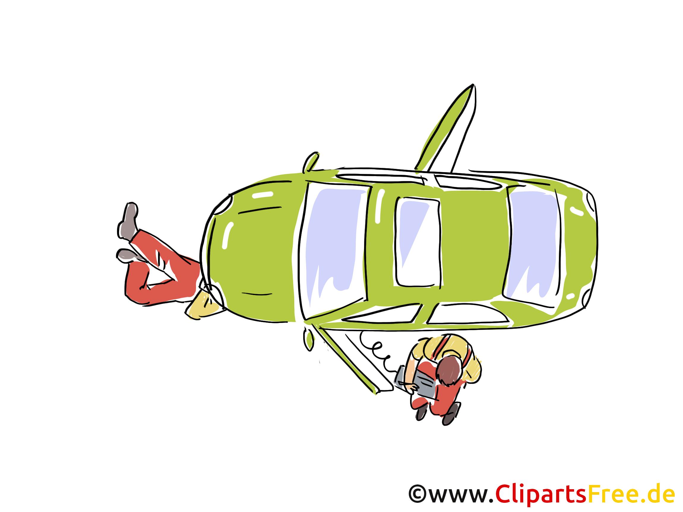 Auto Blick von Oben Clipart, Bild, Grafik, Cartoon, Illustration gratis