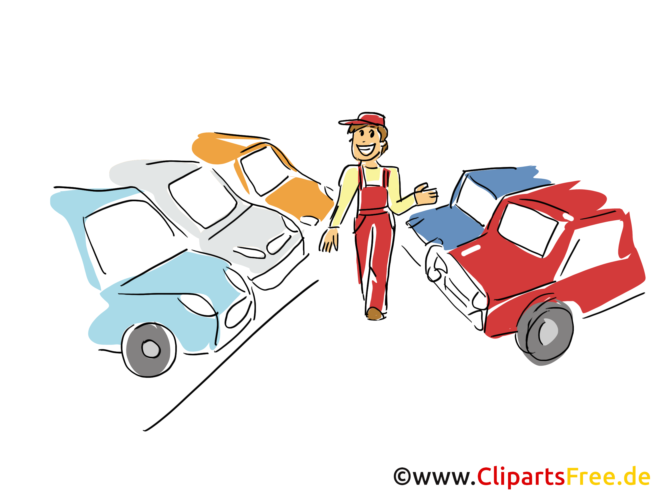 Autohaus Clipart, Bild, Grafik, Cartoon, Illustration gratis