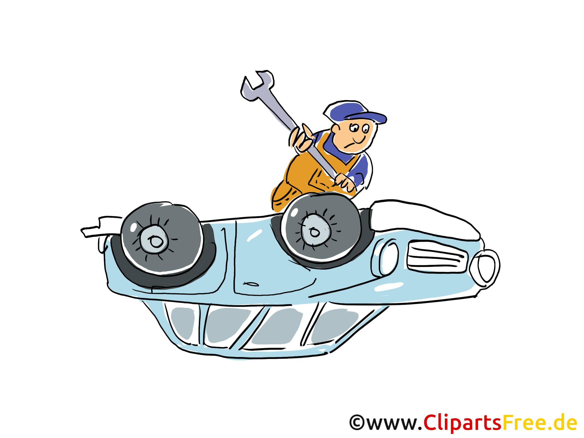 Autopanne Clipart, Bild, Grafik, Cartoon, Illustration gratis