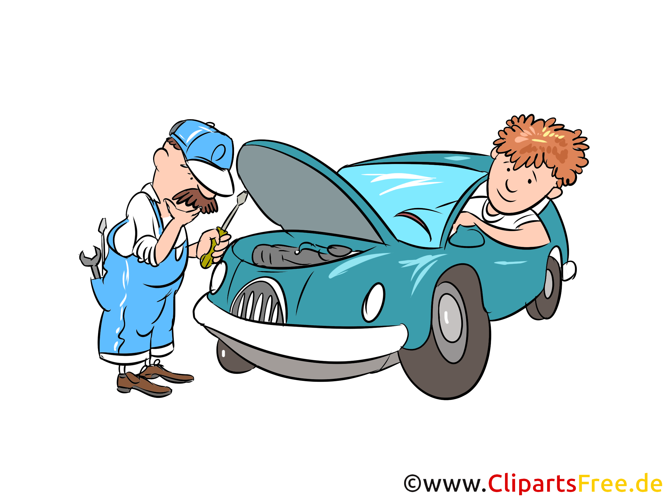 Autoreparatur in werkstatt bild illustration clipart gratis for Clipart gratis download