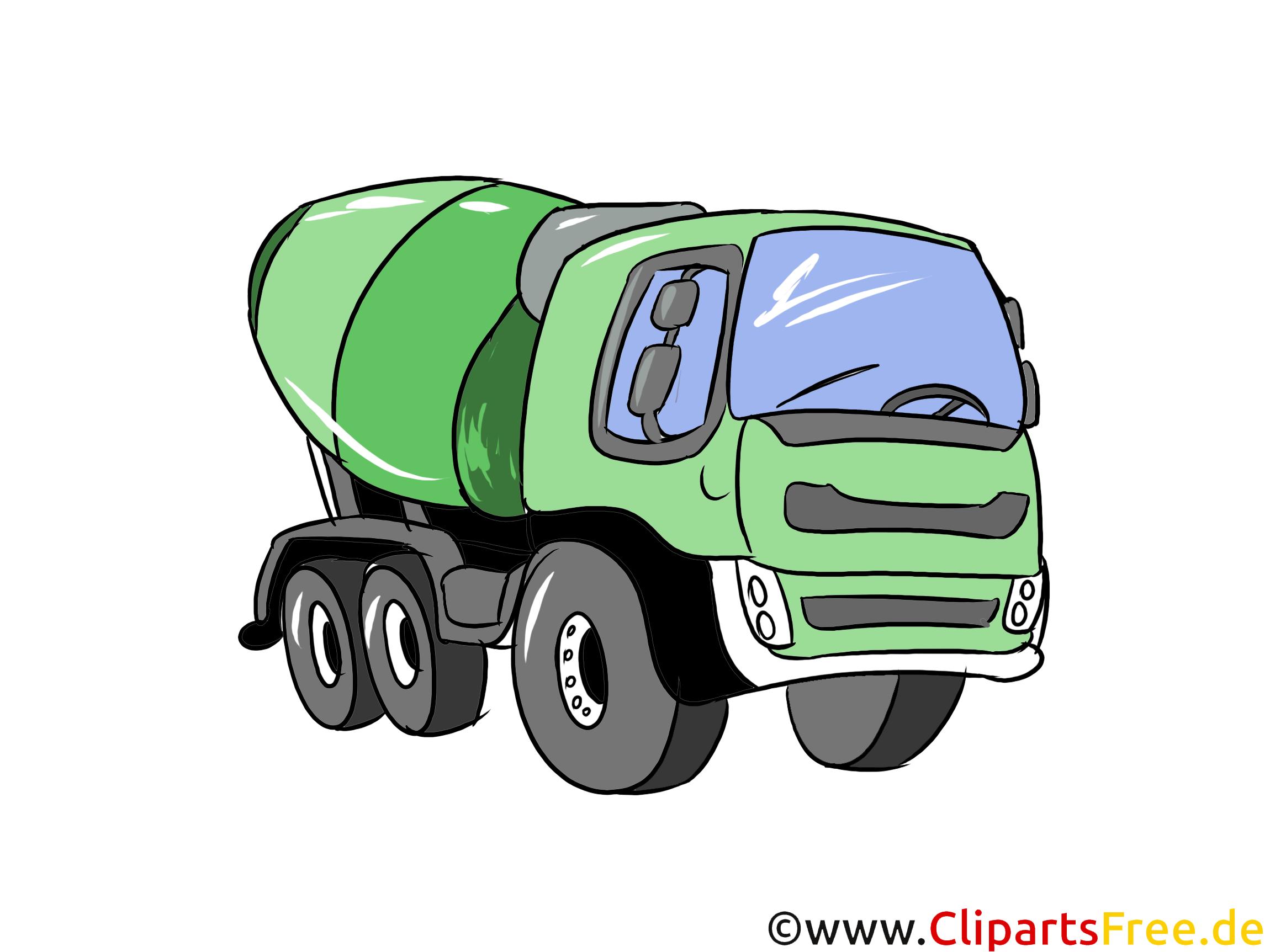 Betonmischer Illustration, Bild, Clipart Autos