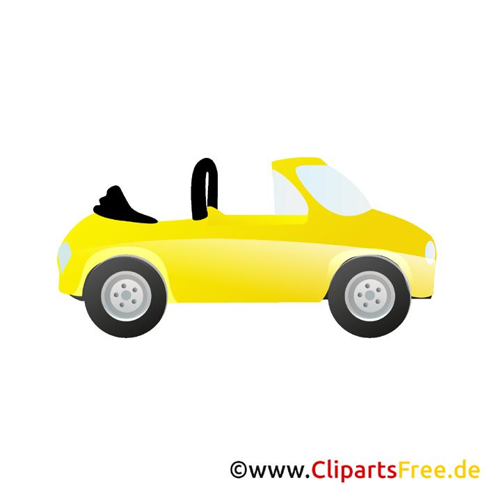Cabrio Clipart kostenlos - Autos