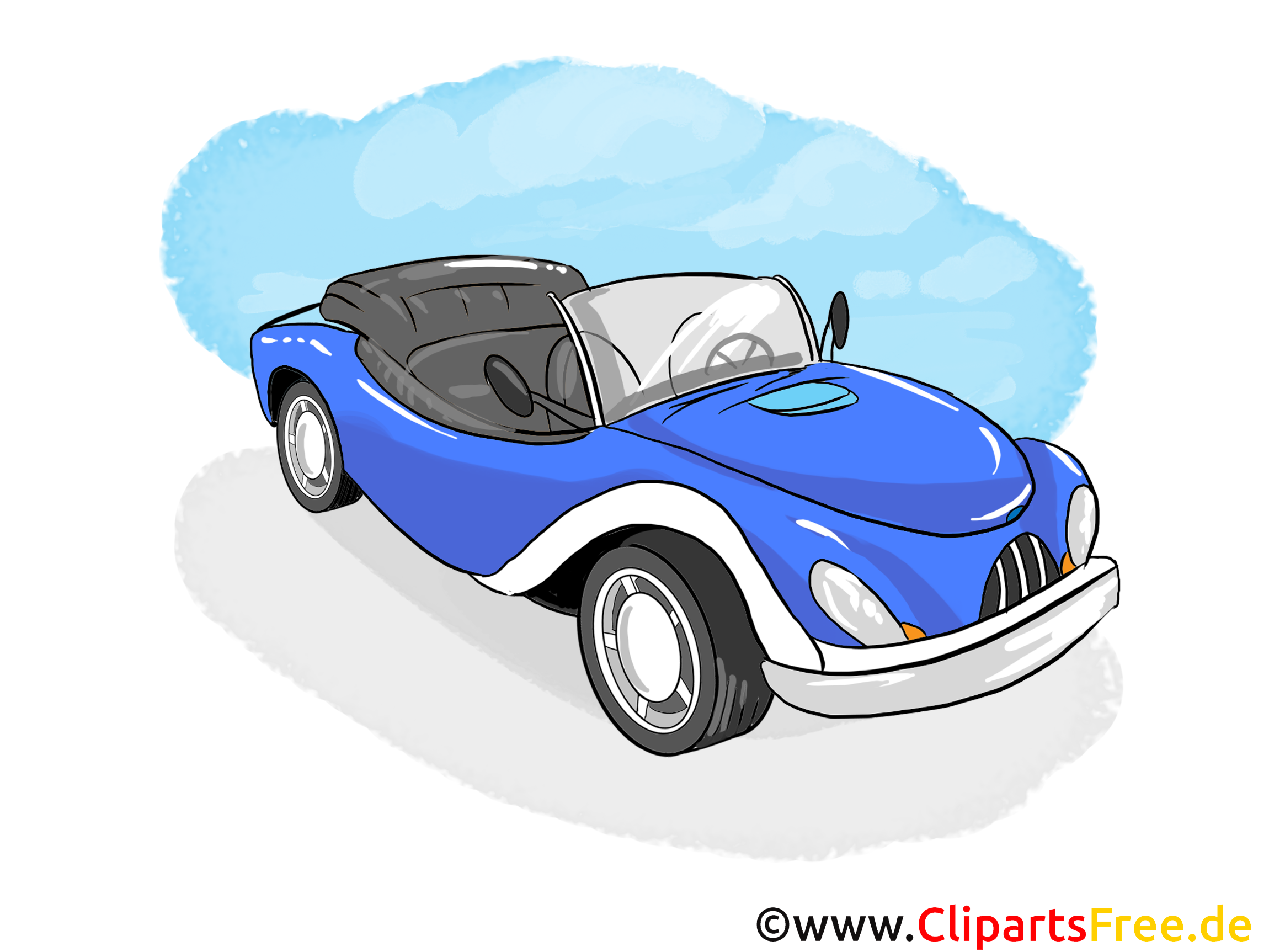Cabrio Vehicle Clip Art free
