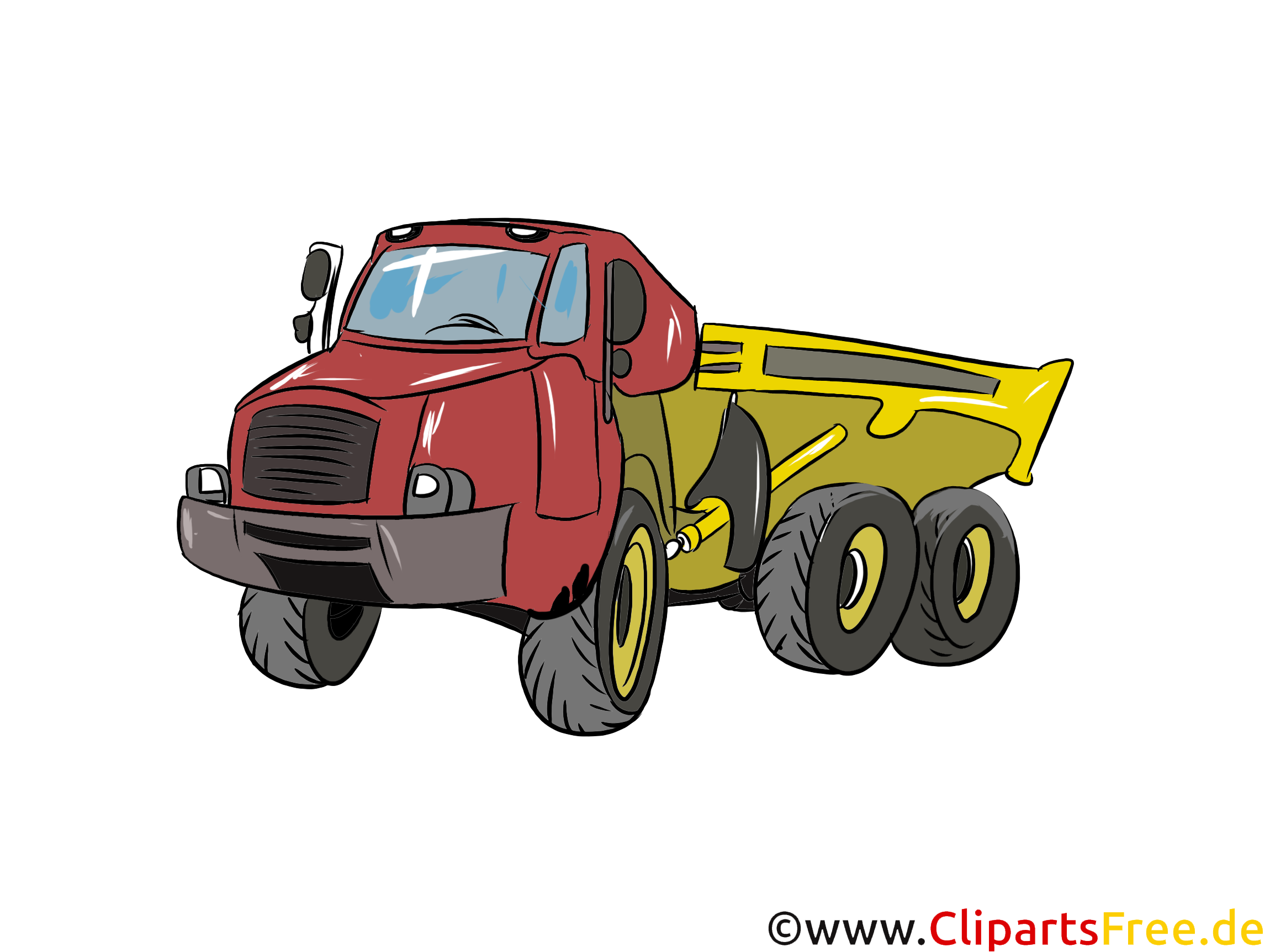 Dumper LKW Illustration, Bild, Clipart Autos