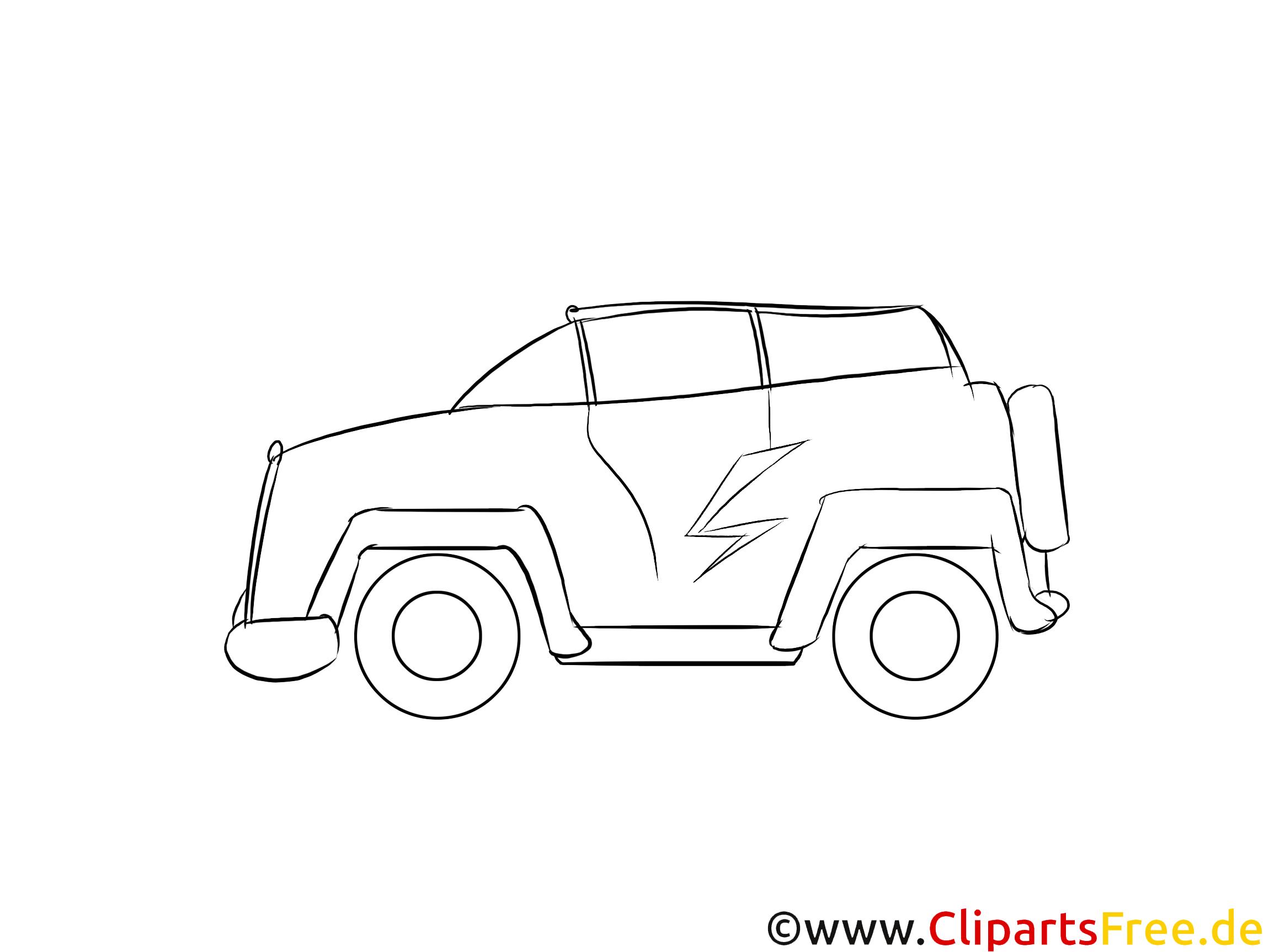 Cyber-Truck-Konzept Clipart, Bild, Grafik