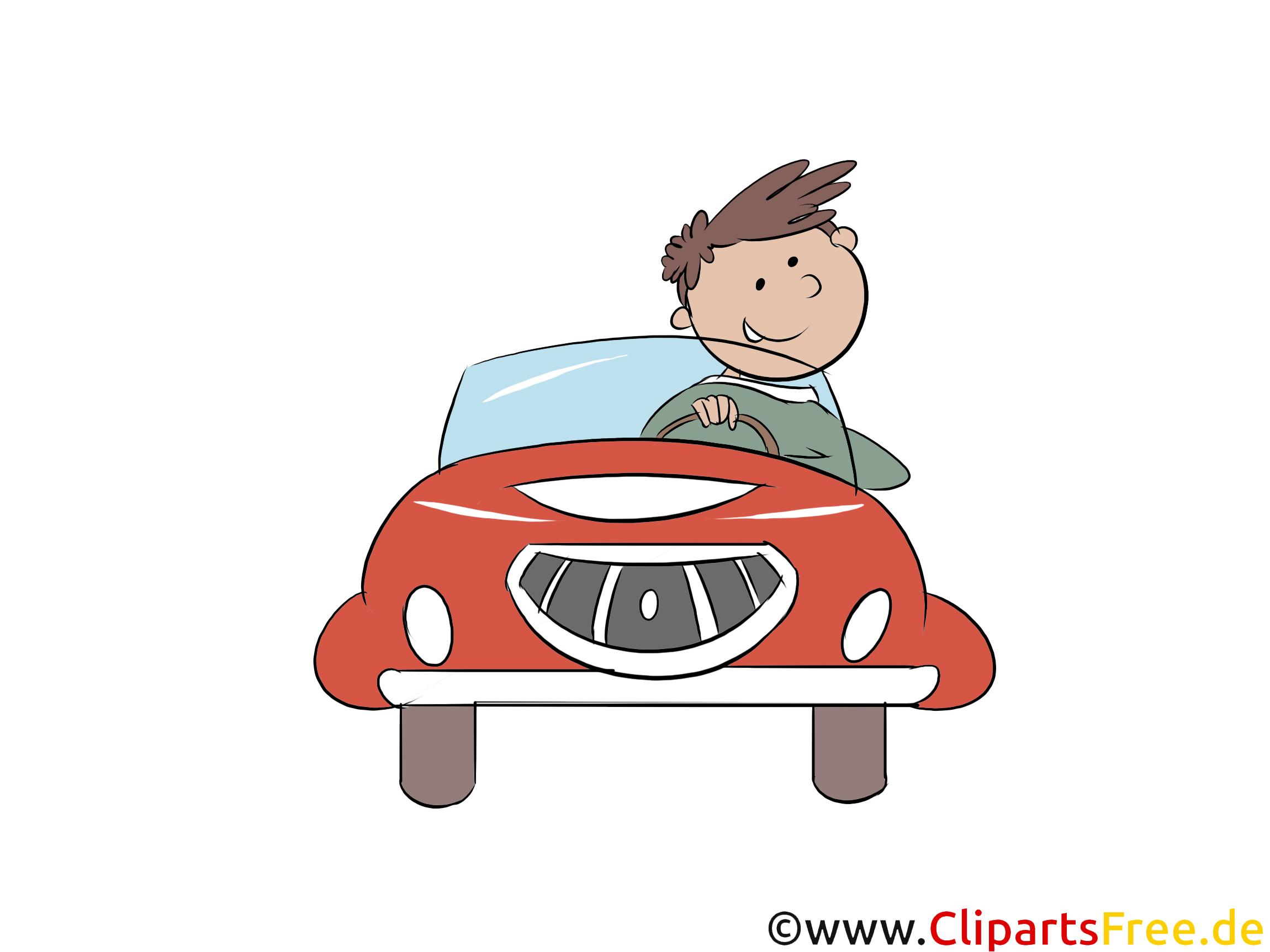 Elektroautofahrer Clipart, Bild, Grafik