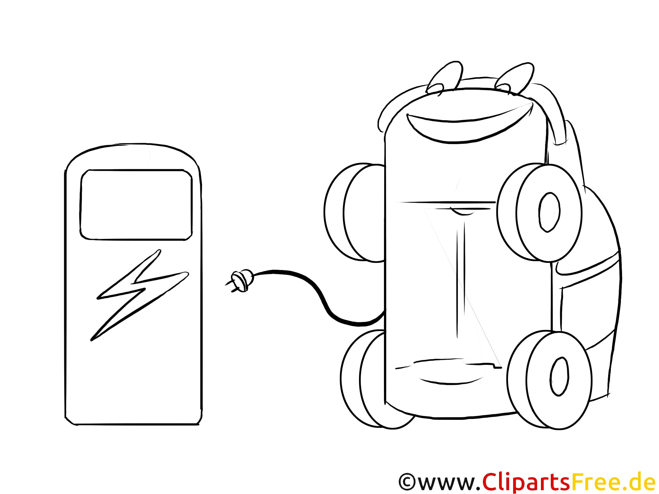 Elektrofahrzeug Maskottchen im Cartoonstil Bild, Graifk, Clipart