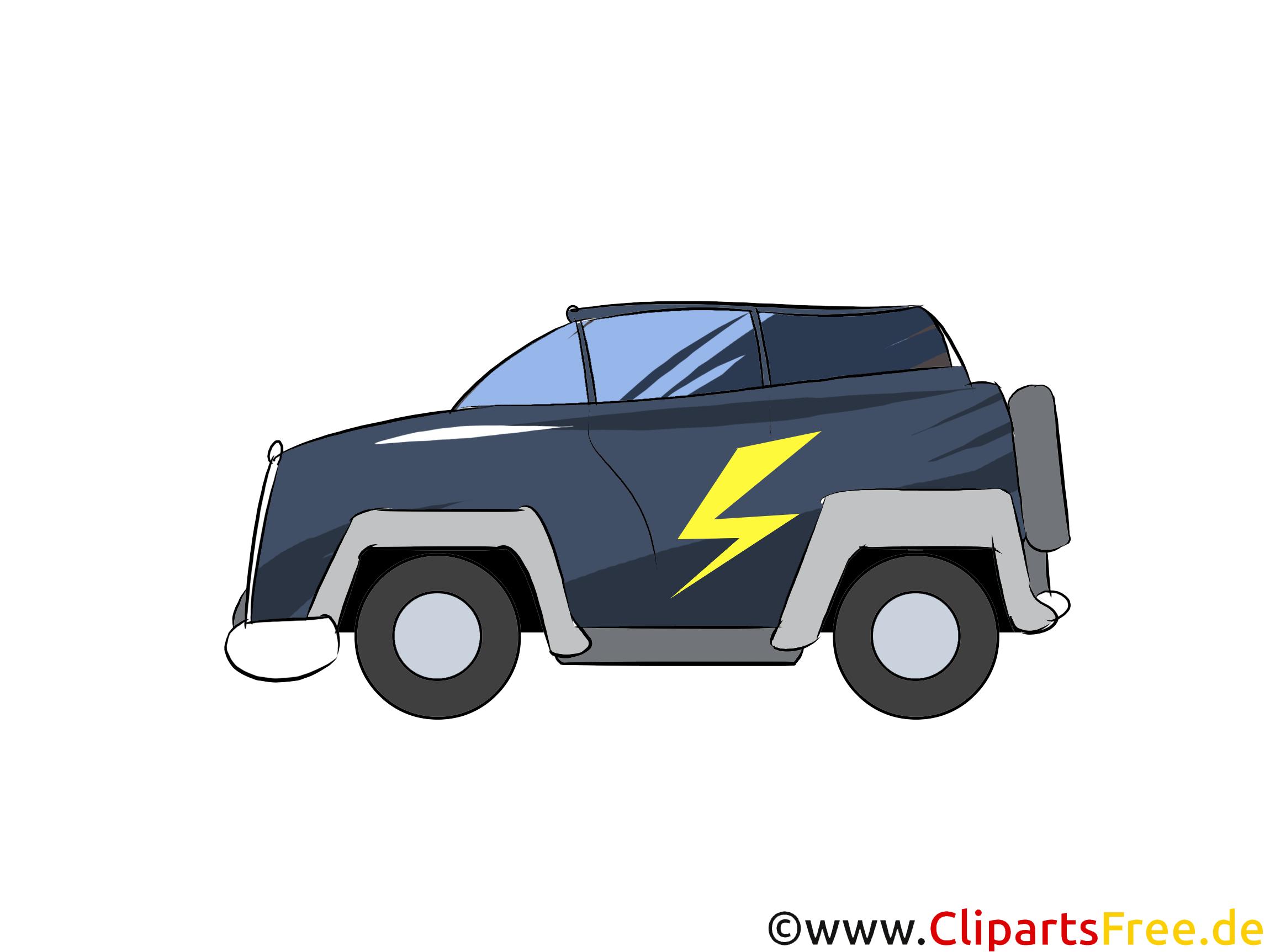 SUV als Elektroauto Clipart, Bild, Grafik